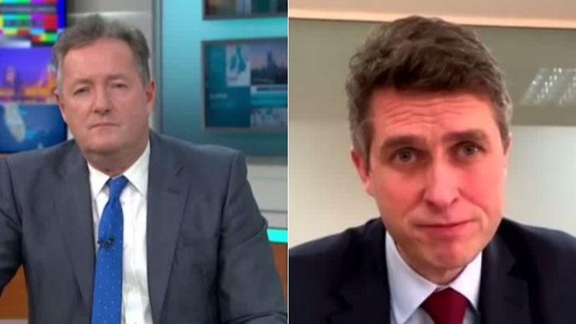 Piers Morgan interviews Gavin Williamson - Credit: ITV
