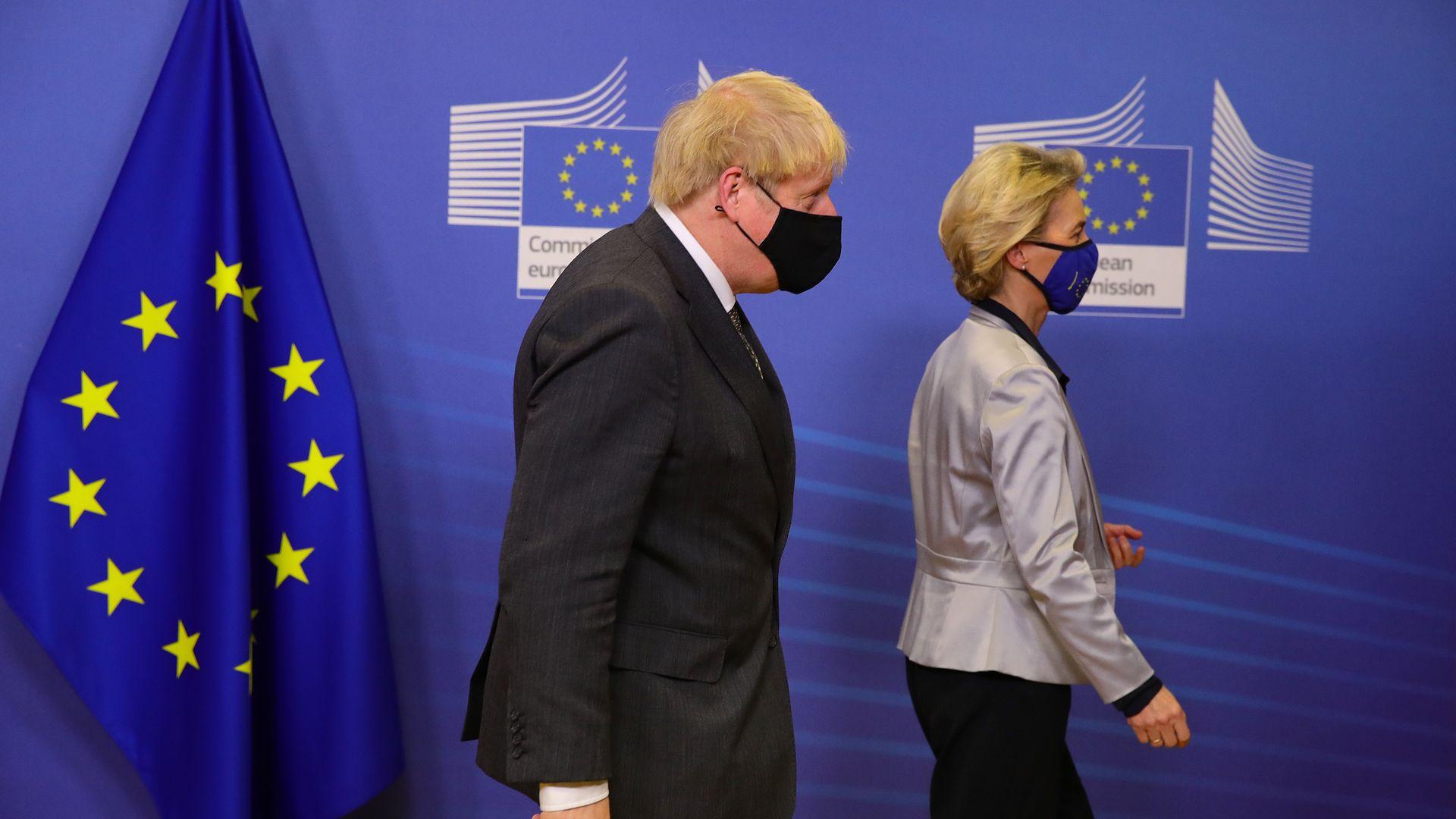 Prime Minister Boris Johnson in Brussels, Belgium - Credit: PA
