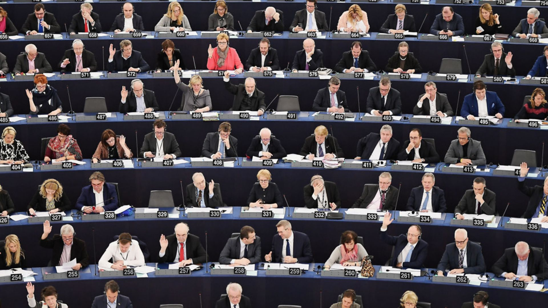 Members of the European Parliament take part in a voting session at the European Parliament in Strasbourg - Credit: AFP/Getty Images