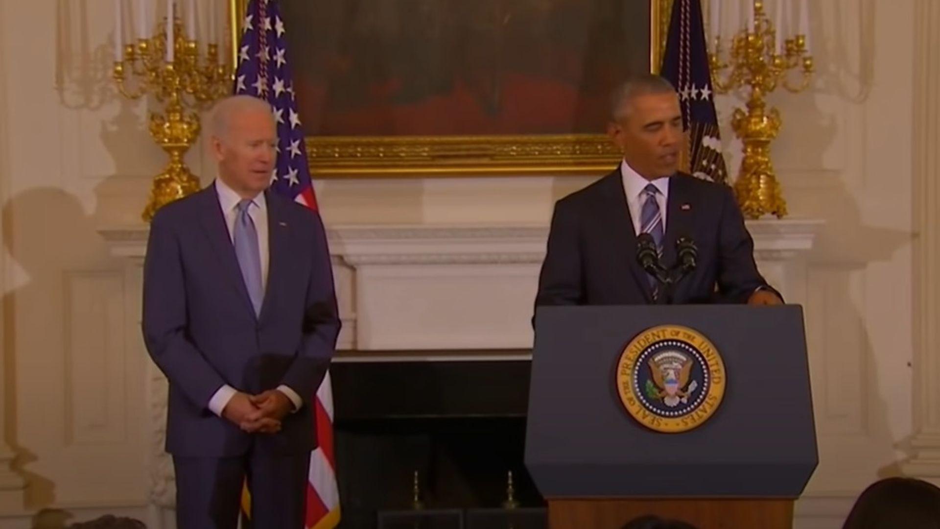 Joe Biden with Barack Obama back in 2016 - Credit: YouTube