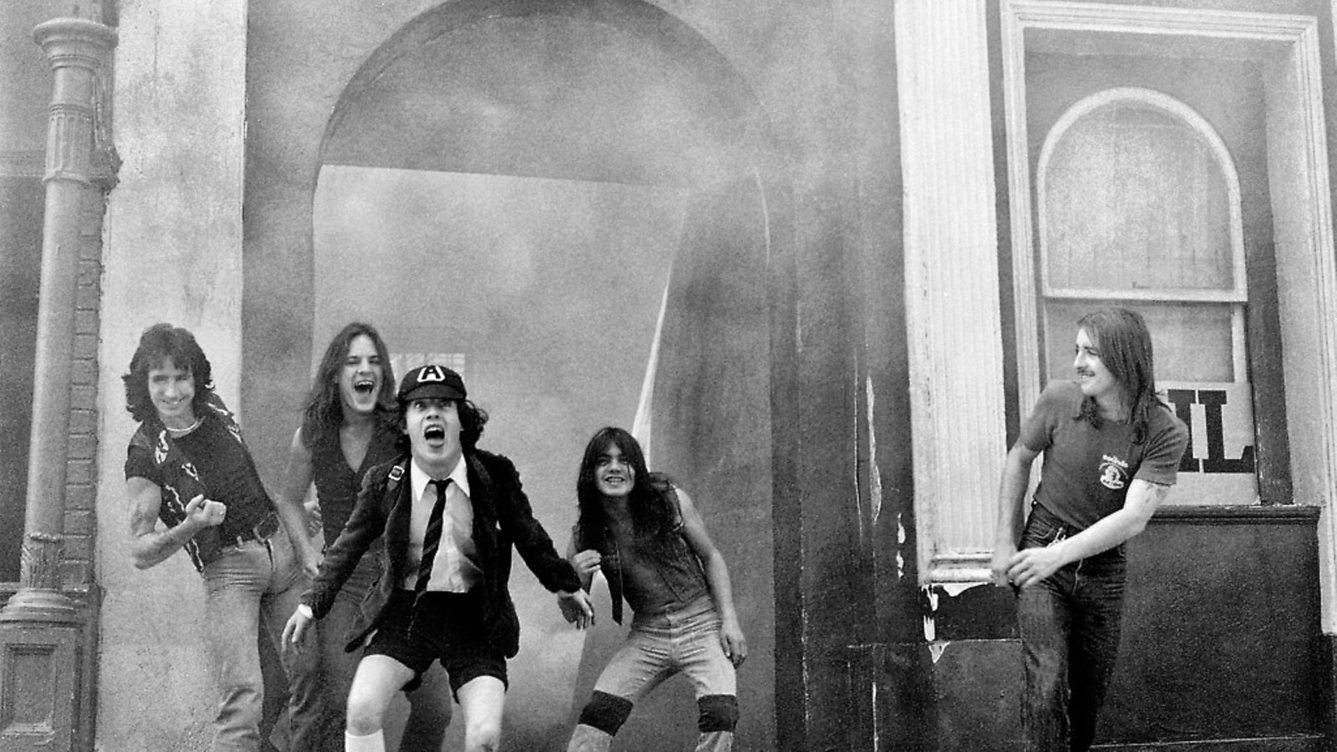 AC/DC at Shepperton Studios in 1976. Picture: Martyn Goddard/Corbis via Getty Images. - Credit: Corbis via Getty Images