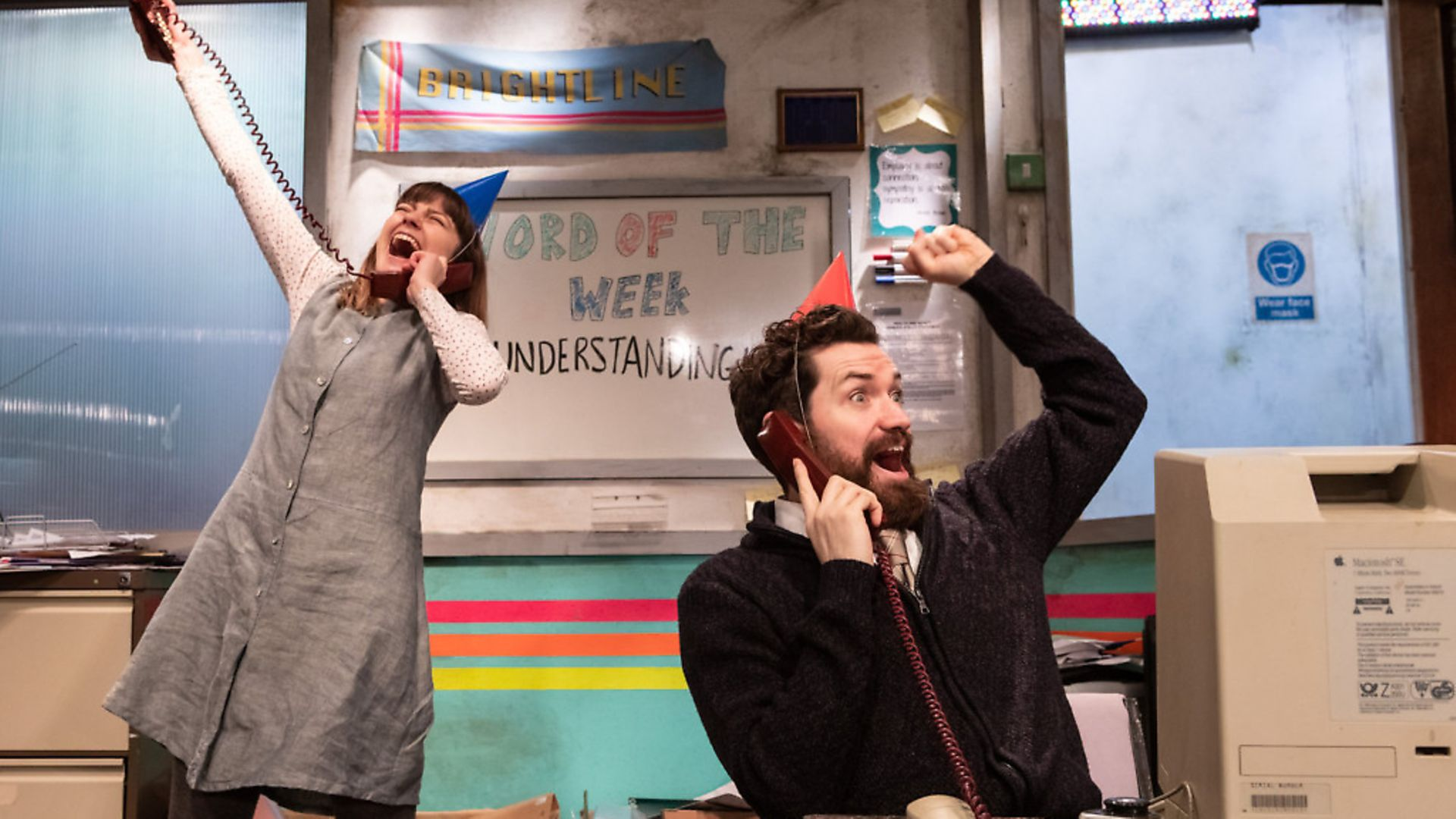 Angie (Lydia Larson) and Jon (Andy Rush) in You Stupid Darkness! Picture: Ali Wright - Credit: Archant