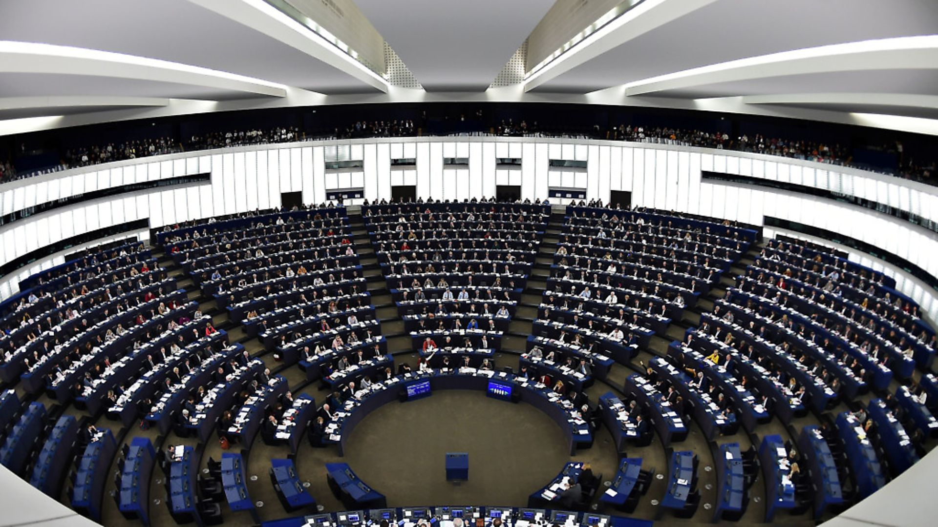 Members of the European Parliament take part in a voting session during a plenary session at the European Parliament in Strasbourg, eastern France. Photo: FREDERICK FLORIN/AFP/Getty Images - Credit: AFP/Getty Images
