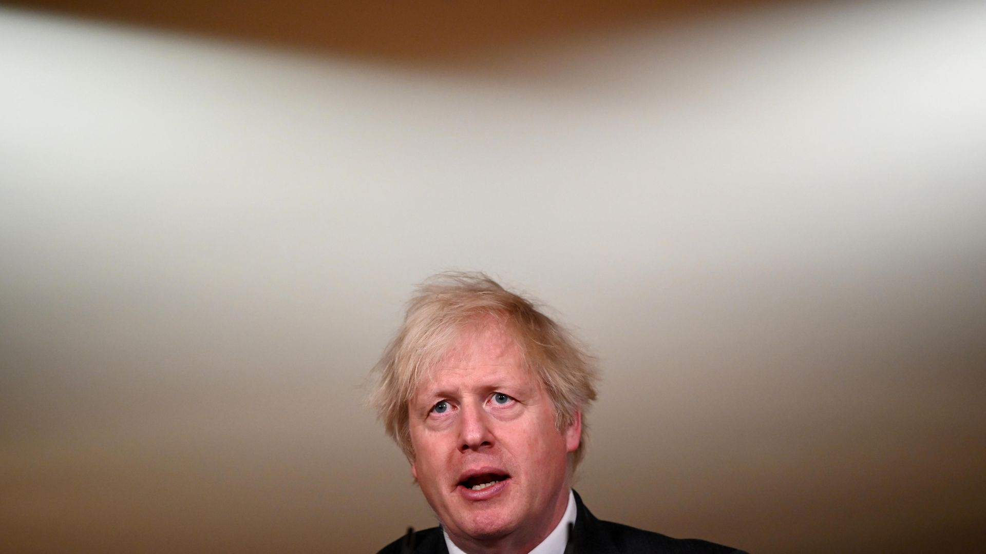 Prime minister Boris Johnson during a media briefing in Downing Street, London - Credit: PA