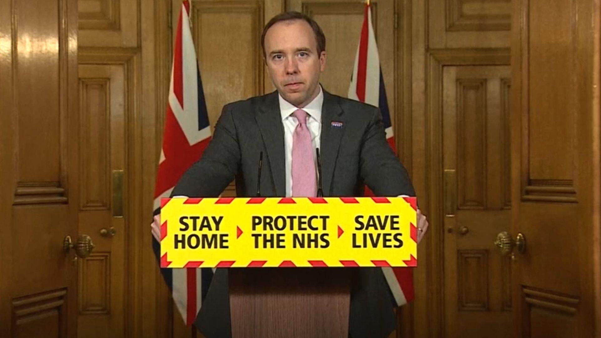 Health Secretary Matt Hancock during a media briefing on coronavirus (COVID-19) in Downing Street, London - Credit: PA