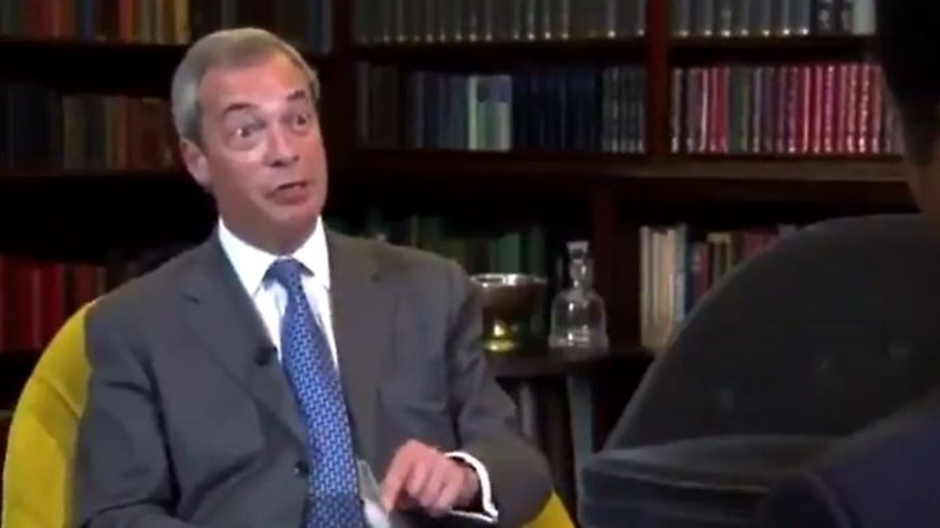 Nigel Farage says fishing rights would become the 'acid test' of Brexit - Credit: Twitter