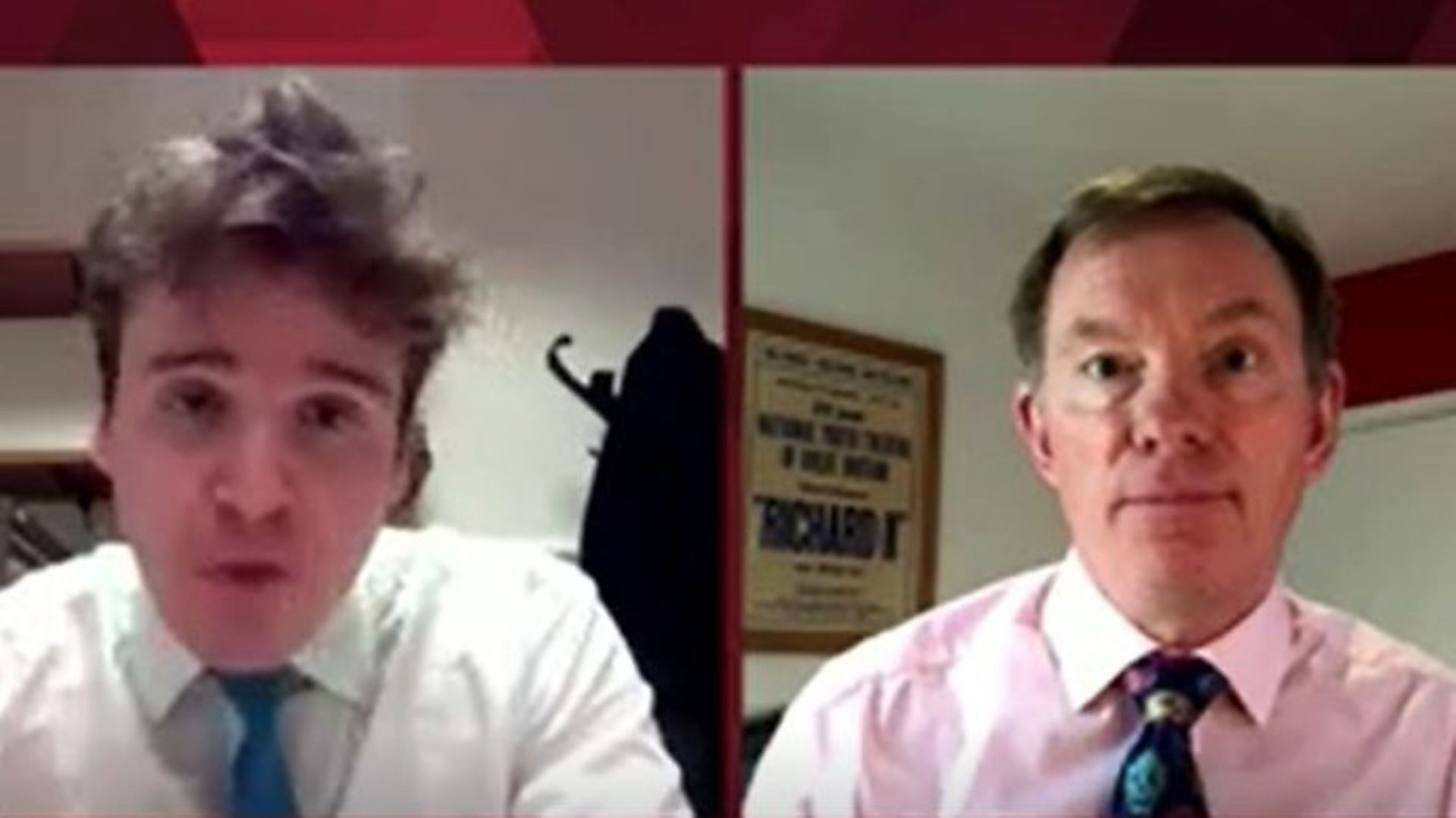 Tory MP Tom Hunt (L) and Labour's Chris Bryant (R) on BBC 2's Politics Live - Credit: BBC