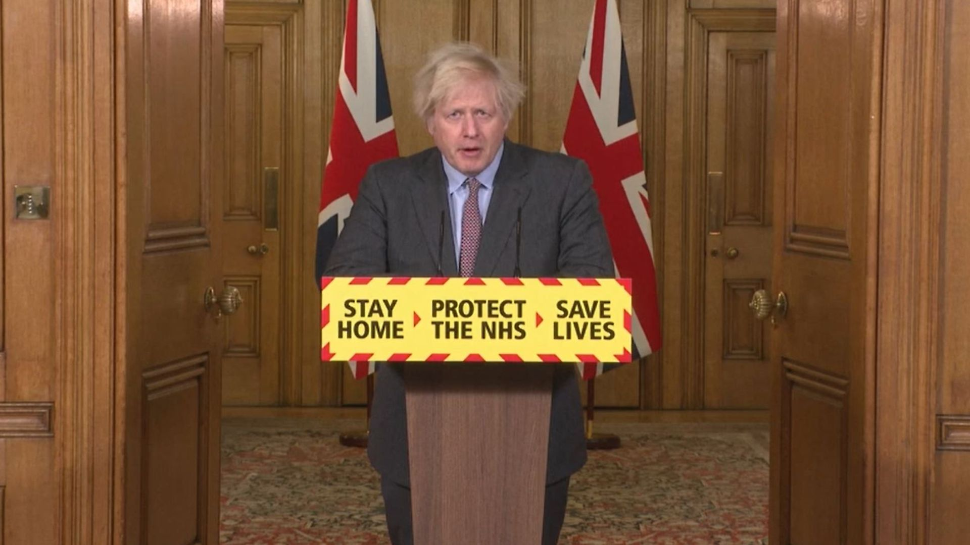 Screengrab of Prime Minister Boris Johnson during a media briefing in Downing Street, London, on coronavirus (COVID-19). Picture date: Tuesday January 26, 2021. - Credit: PA