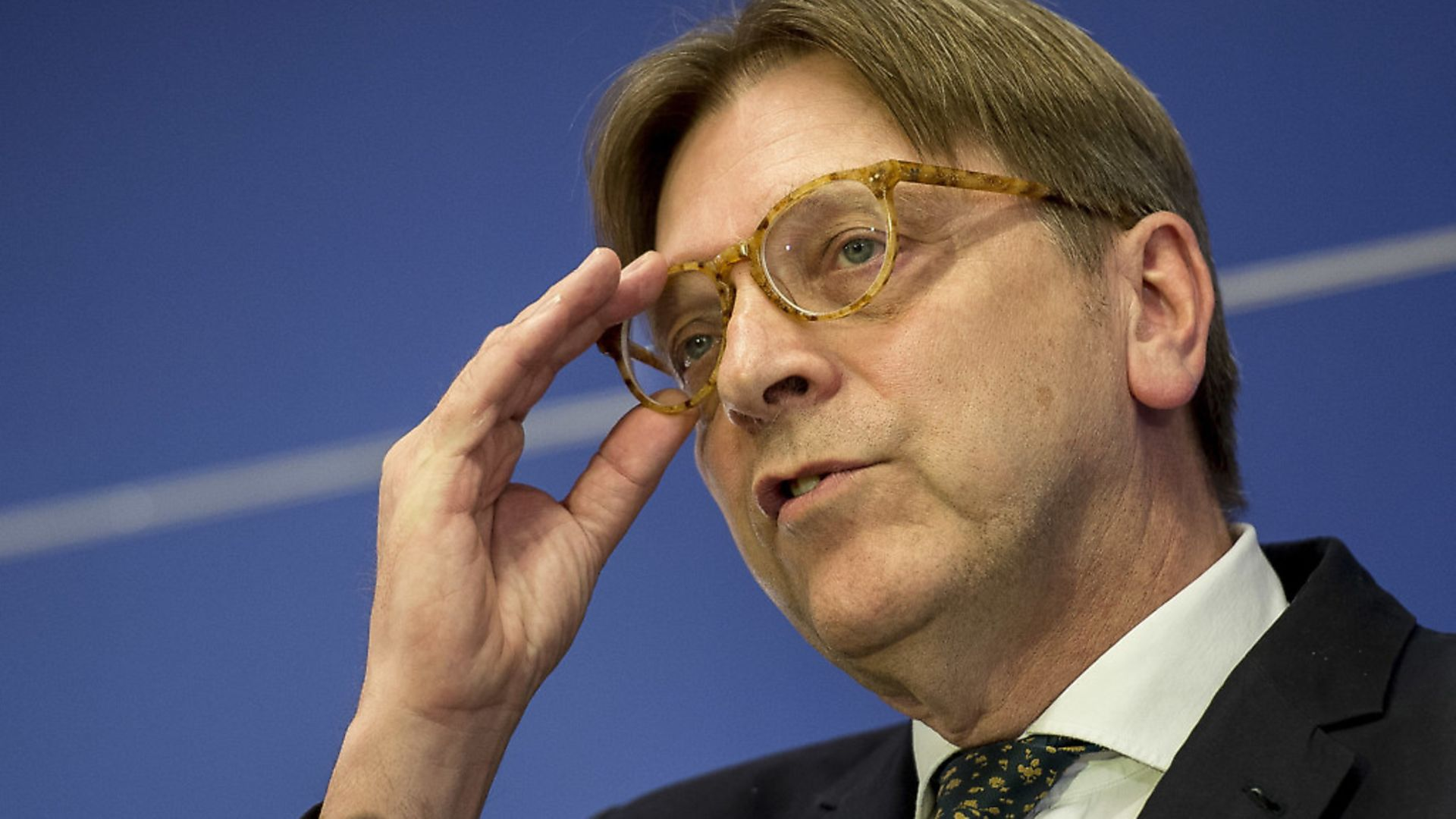 European Parliament coordinator for Brexit, Guy Verhofstadt. - Credit: DPA/PA Images
