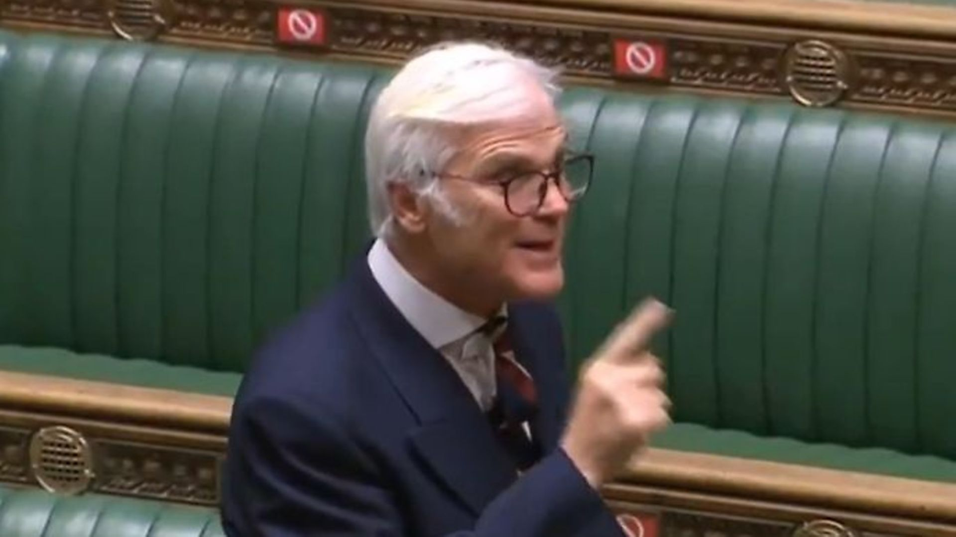 Tory MP Desmond Swayne in the House of Commons - Credit: Twitter