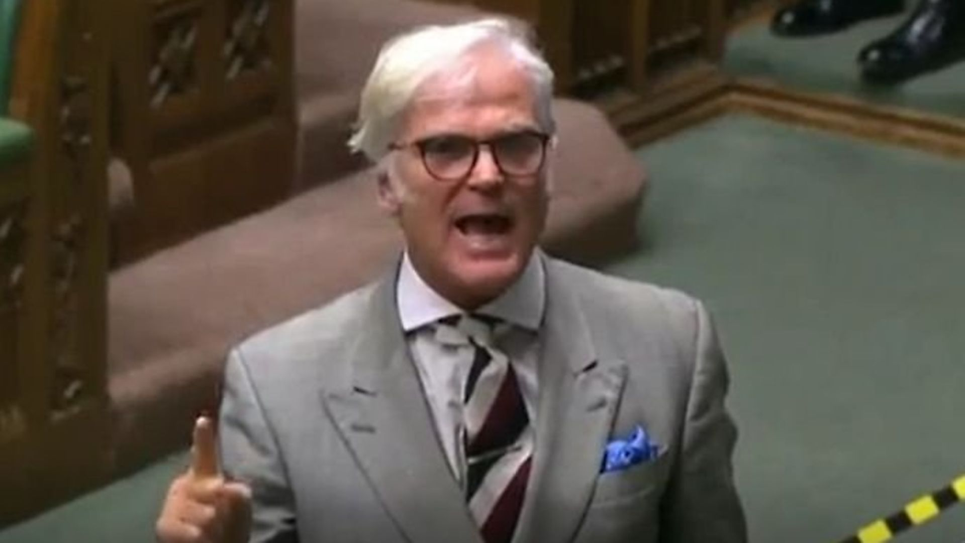 Tory MP Desmond Swayne in the House of Commons - Credit: Parliament TV