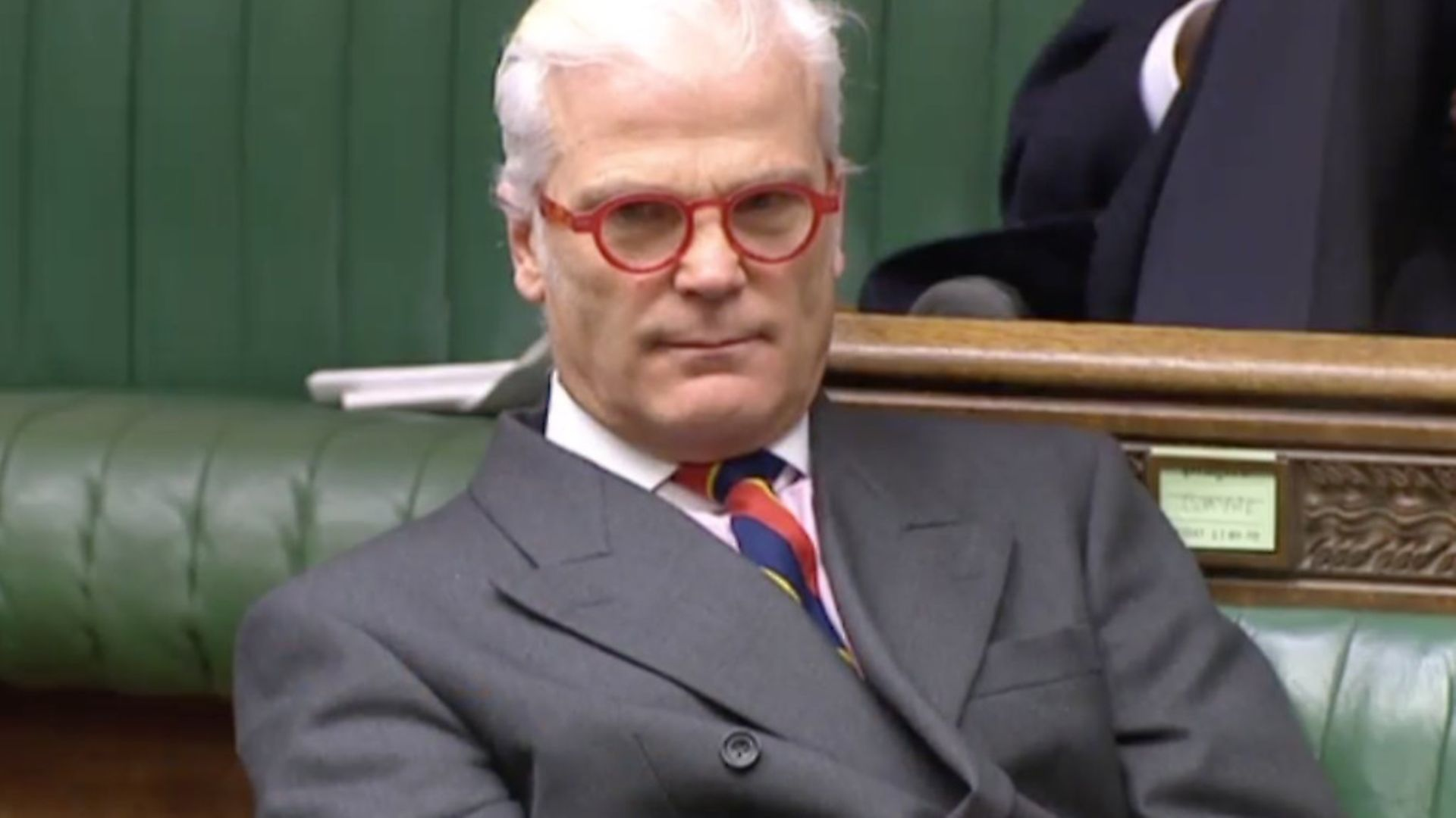 Desmond Swayne in the Hosue of Commons. Photograph: Parliament TV. - Credit: Archant