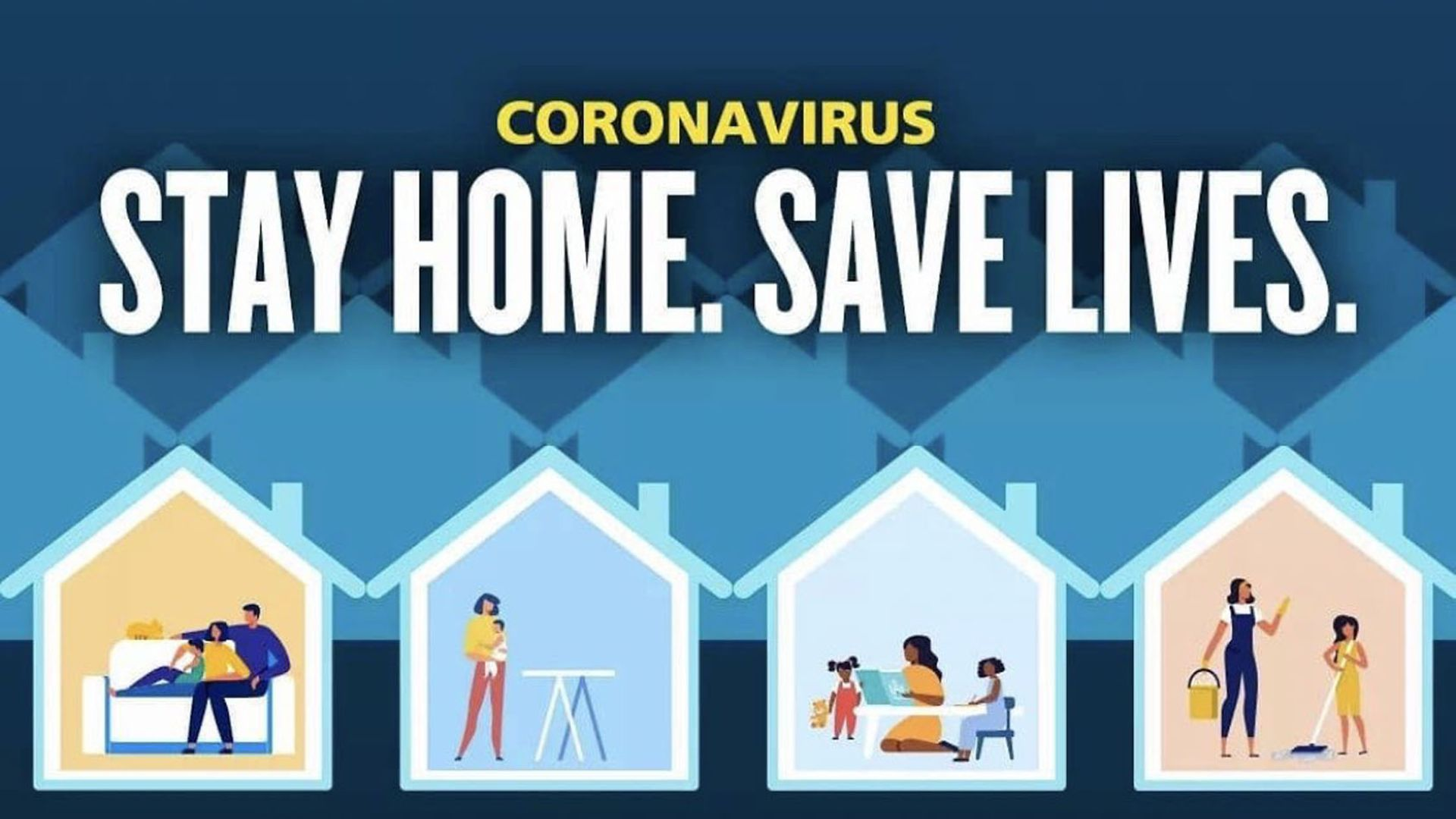 """Government's """"stay home, save lives"""" poster which has been withdrawn following a backlash over its apparently sexist depiction of women. - Credit: Twitter"""