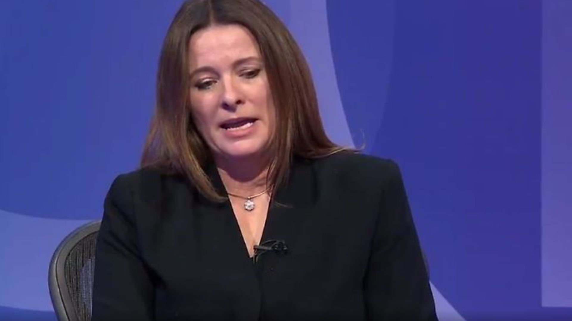 Tory MP Gillian Keegan on Question Time - Credit: Twitter, BBC