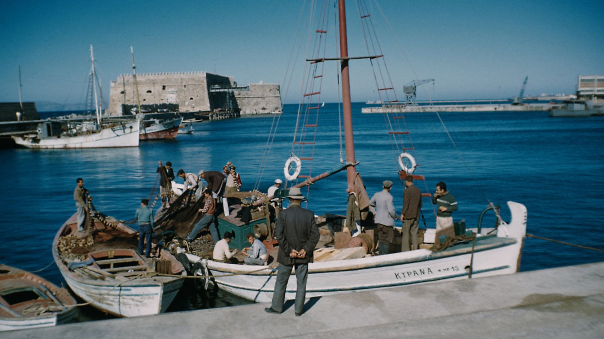 Fishing boats in Heraklion harbour, Crete, Greece, circa 1965. Pictures: Garry Hogg/Getty Images - Credit: Getty Images