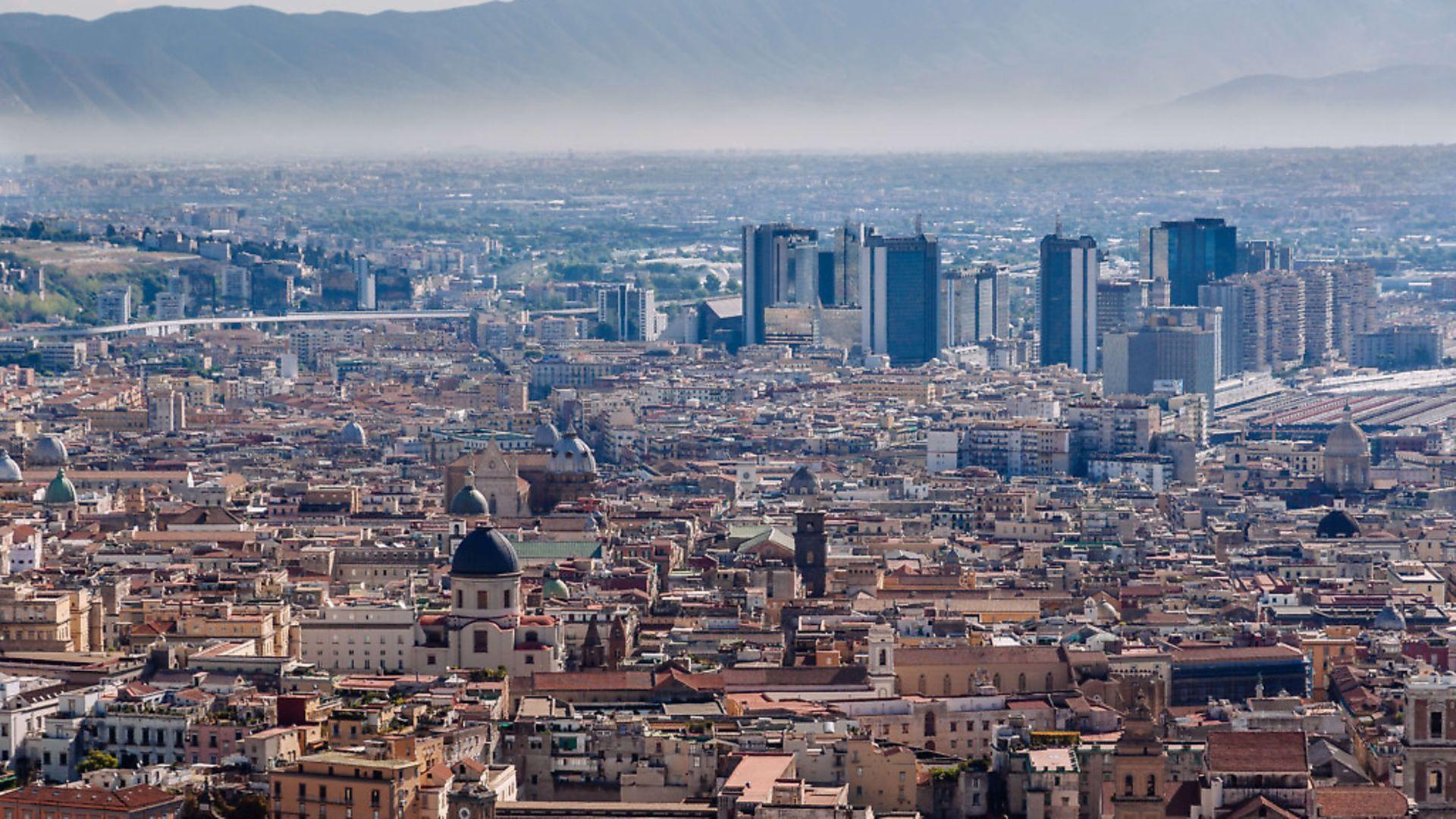 City skyline from Castel Sant'Elmo. (Photo by Raquel Maria Carbonell Pagola/LightRocket via Getty Images) - Credit: LightRocket via Getty Images