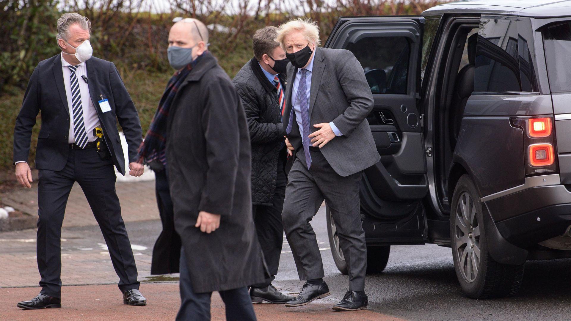 Prime Minister Boris Johnson visiting Scotland - Credit: PA