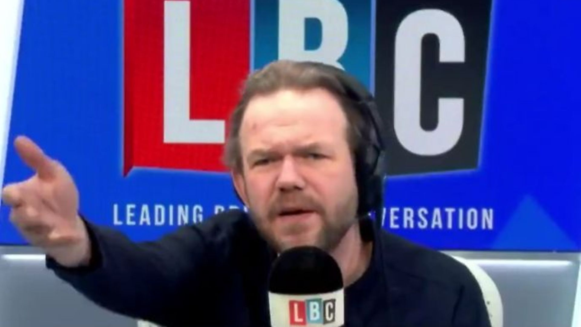 """James O'Brien said the EU's decision to impose Article 16 of the Northern Ireland Protocol had been """"downright dangerous"""" - Credit: LBC, Twitter"""
