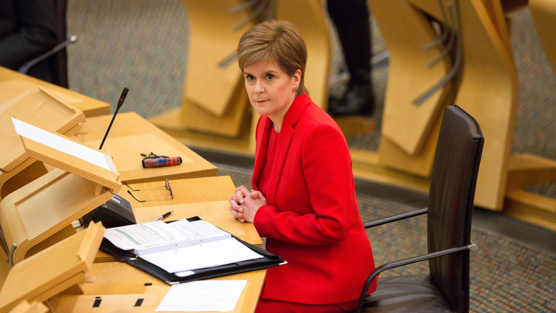 Nicola Sturgeon attending First Minister's Questions at the Scottish Parliament, Edinburgh - Credit: PA