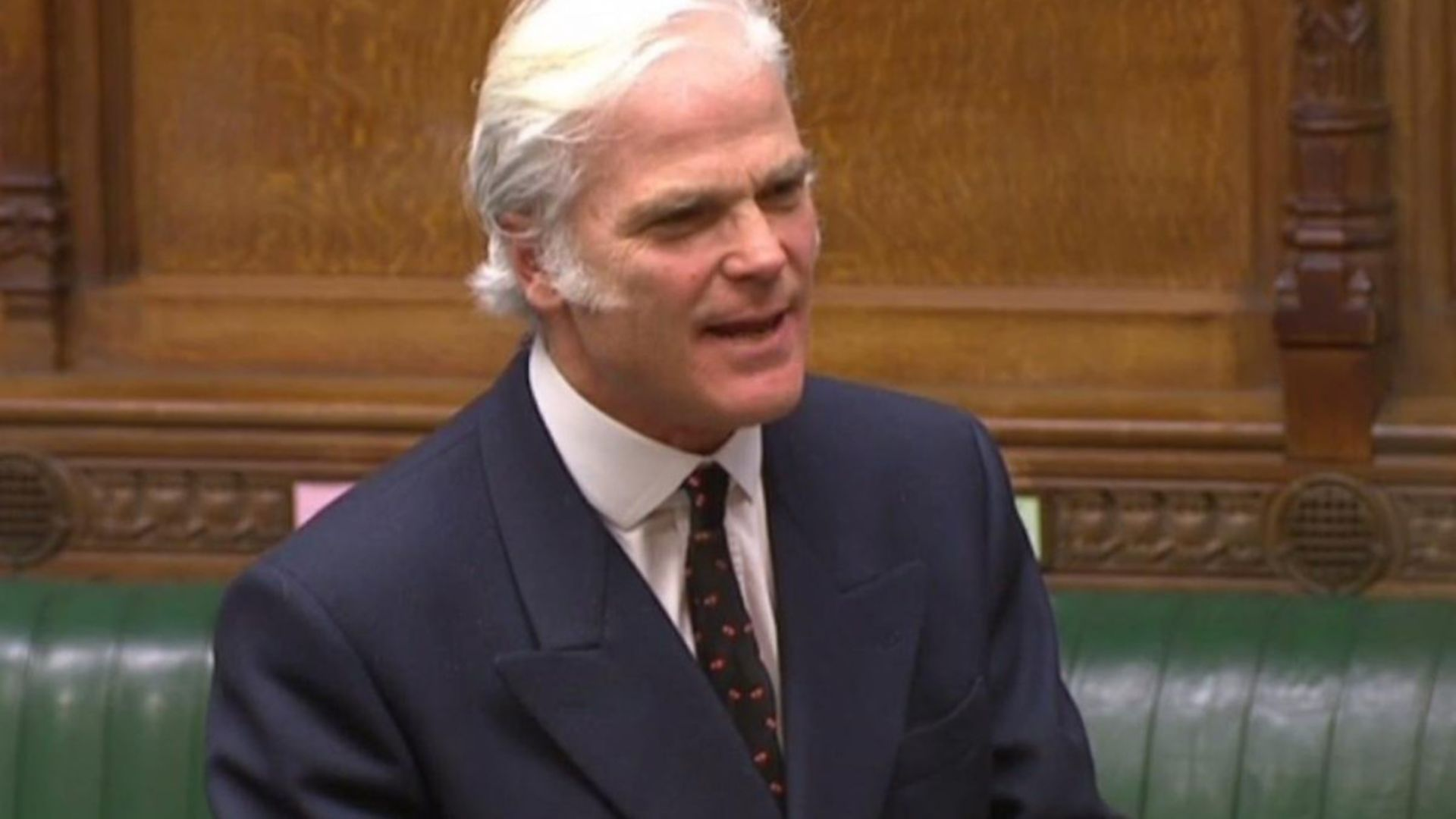 Sir Desmond Swayne in the House of Commons - Credit: Parliament Live