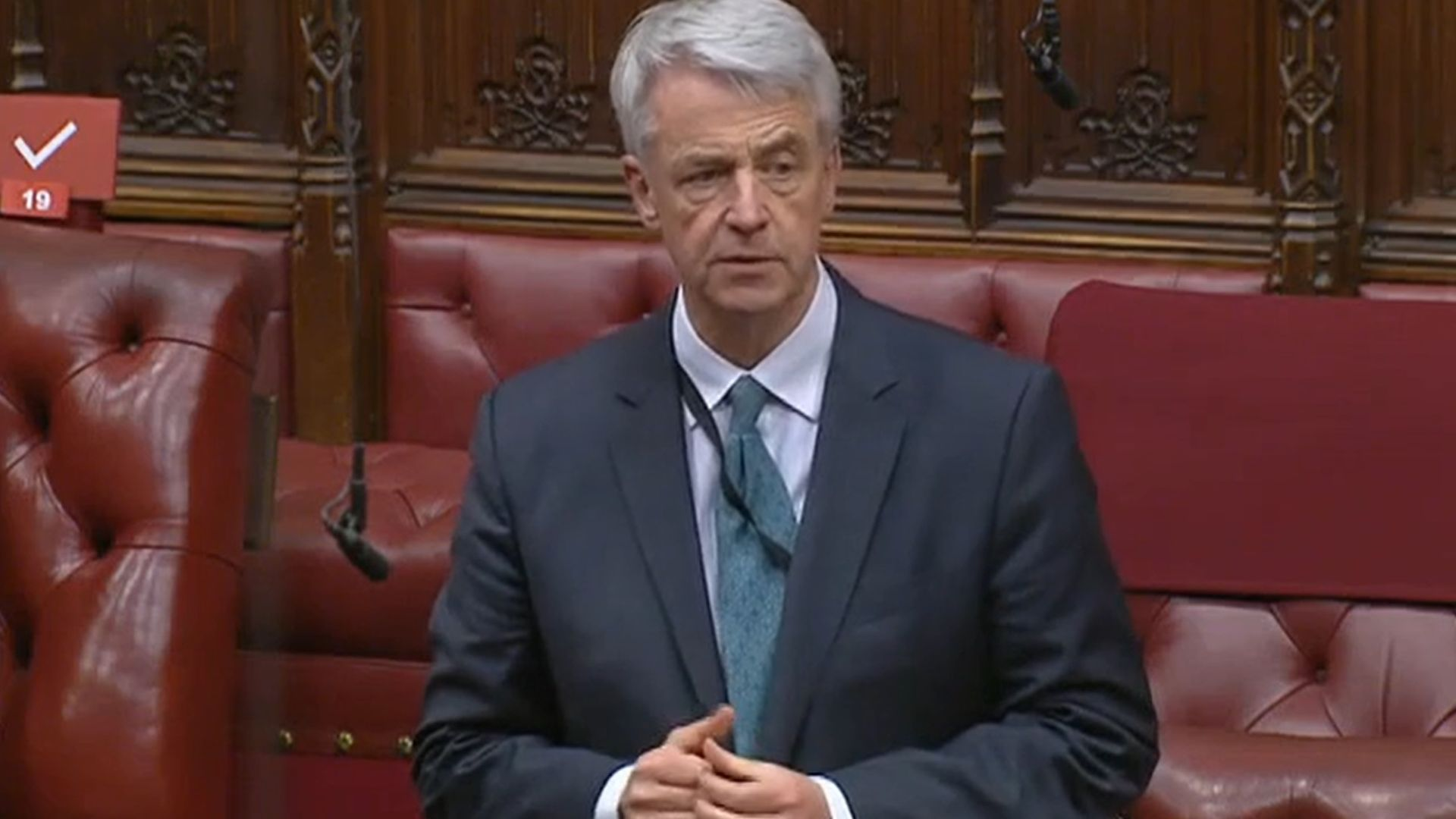 Andrew Lansley in the House of Lords - Credit: Parliament Live