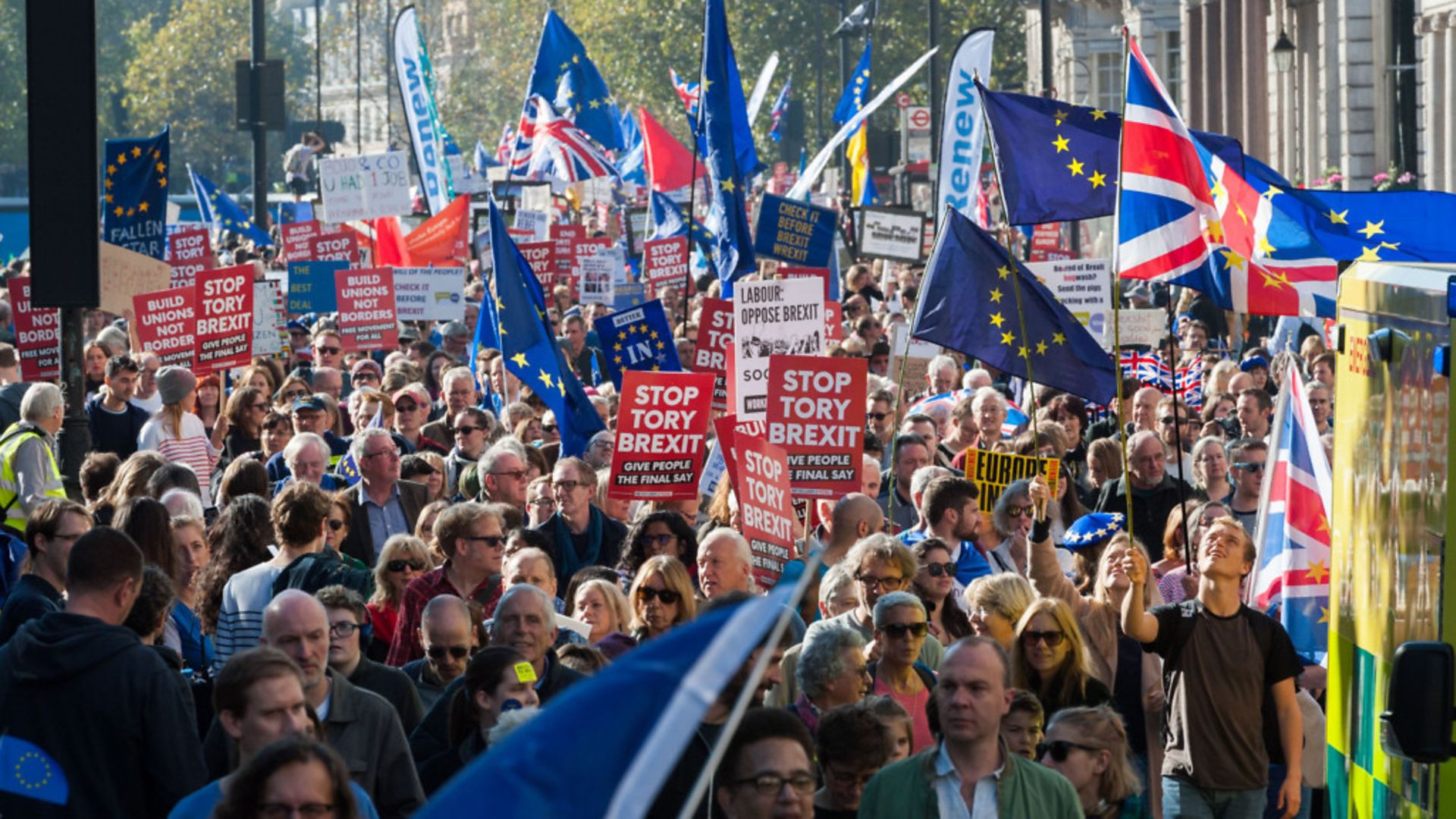 Remainers on the march after the EU referendum - Credit: Barcroft Media via Getty Images