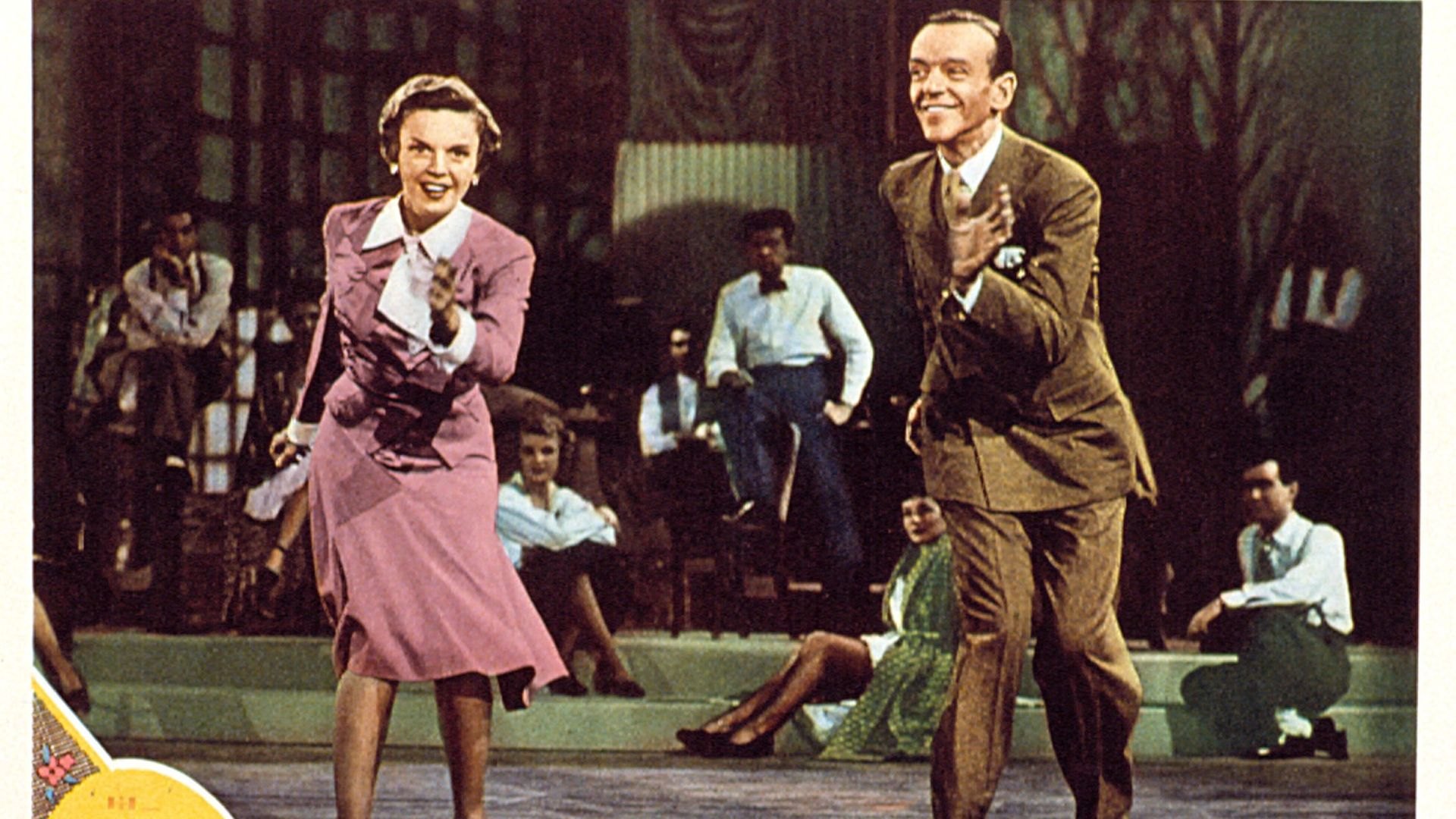 Judy Garland and Fred Astaire in a lobbycard for the 1948 film Easter Parade - Credit: LMPC via Getty Images
