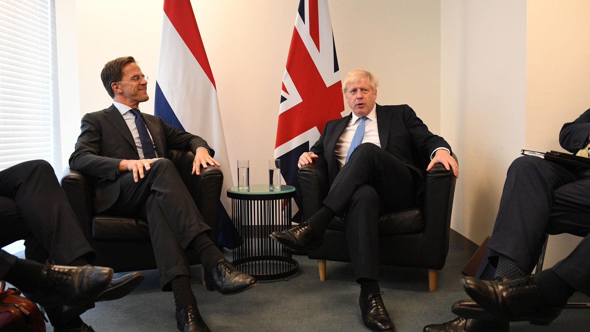 Boris Johnson (right) meets Mark Rutte at the 74th Session of the UN General Assembly - Credit: PA