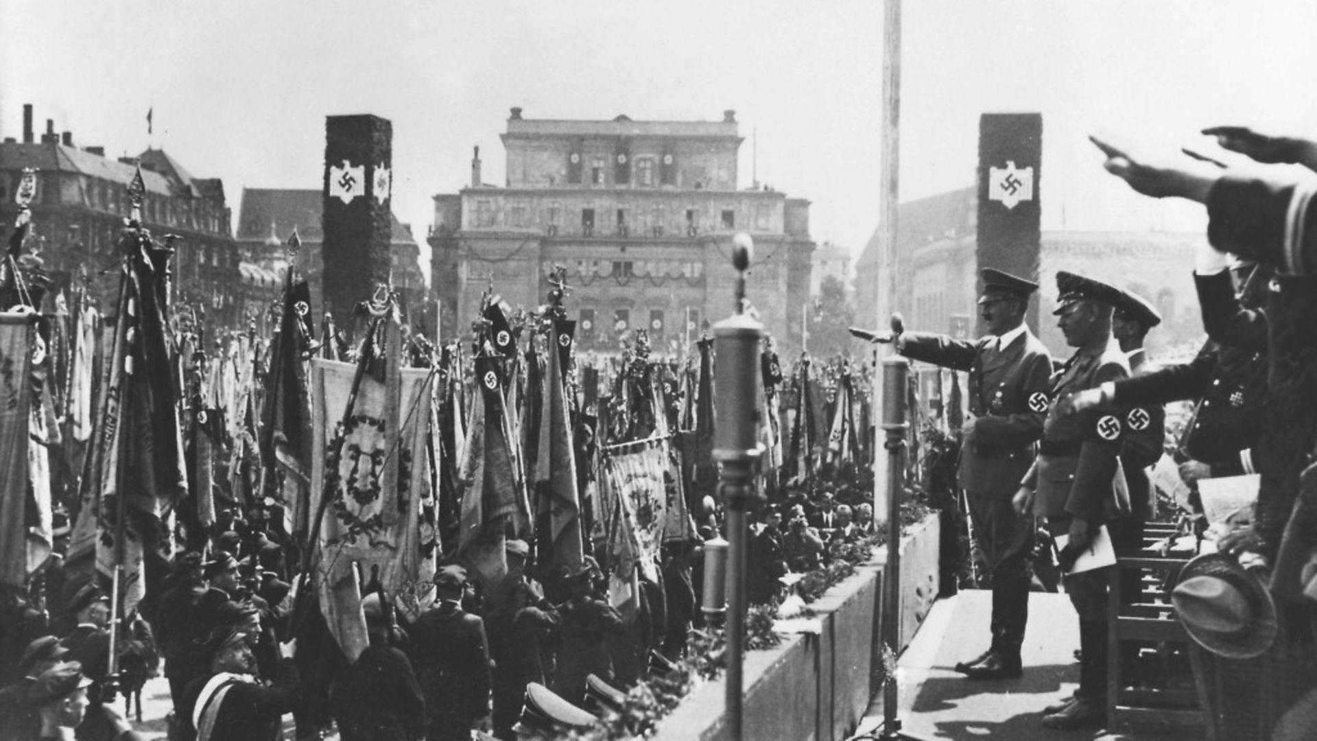 Adolf Hitler in 1938 Nazi Germany - Credit: ullstein bild via Getty Images