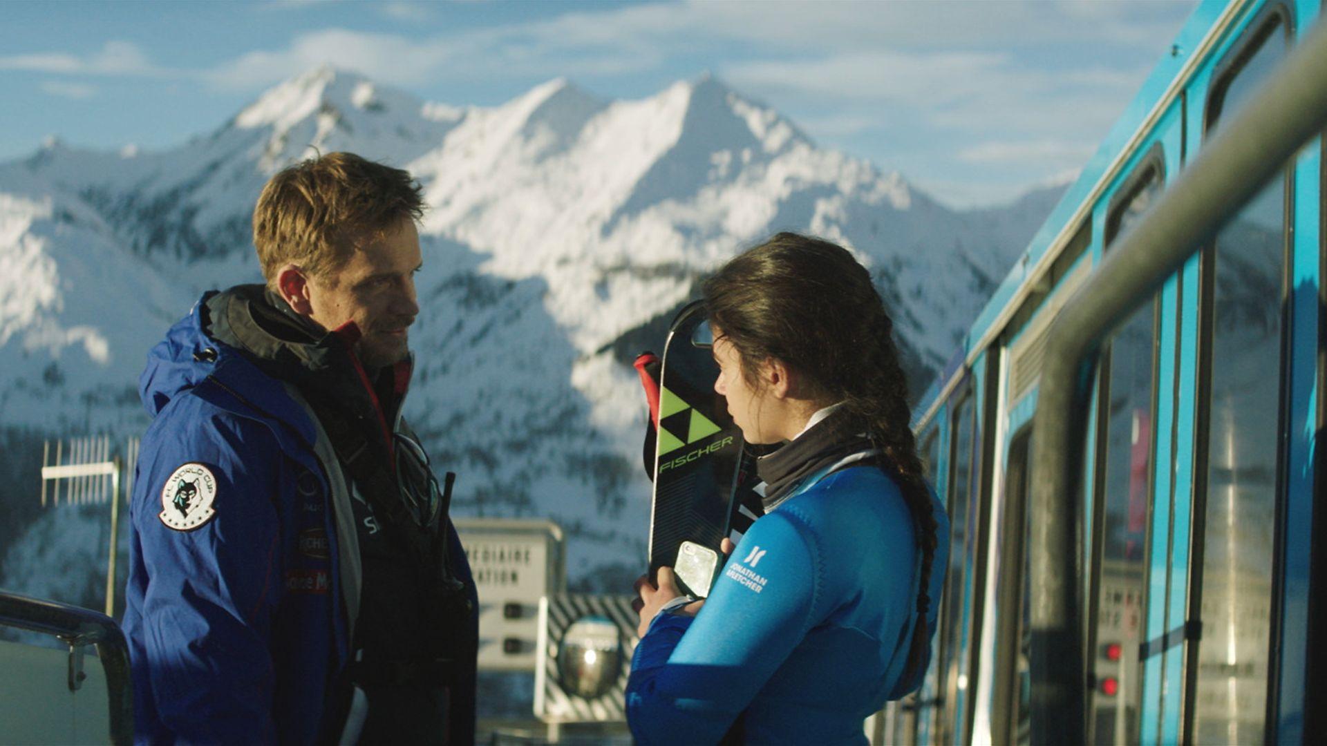 Jérémie Renier and Noée Abita, in Slalom - Credit: Mille et une productions