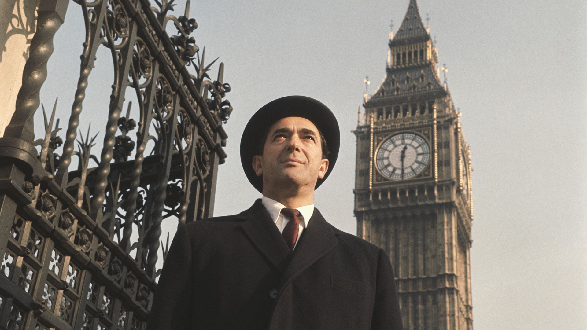 Robert Maxwell arrives at the Houses of Parliament to take up his seat after being elected MP for Buckingham in 1964 - Credit: Getty Images