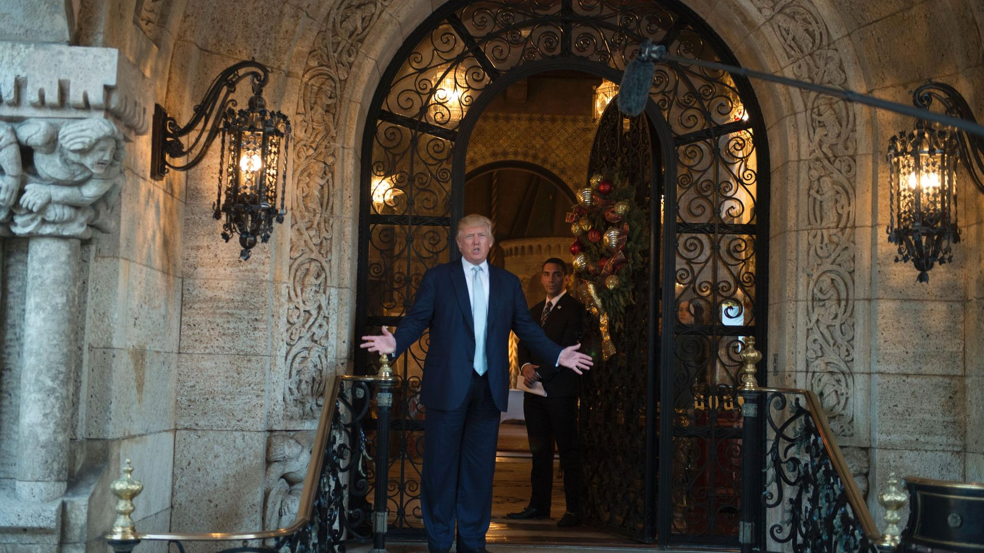 Donald Trump at Mar-a-Lago in Palm Beach, Florida, in 2016 - Credit: AFP via Getty Images