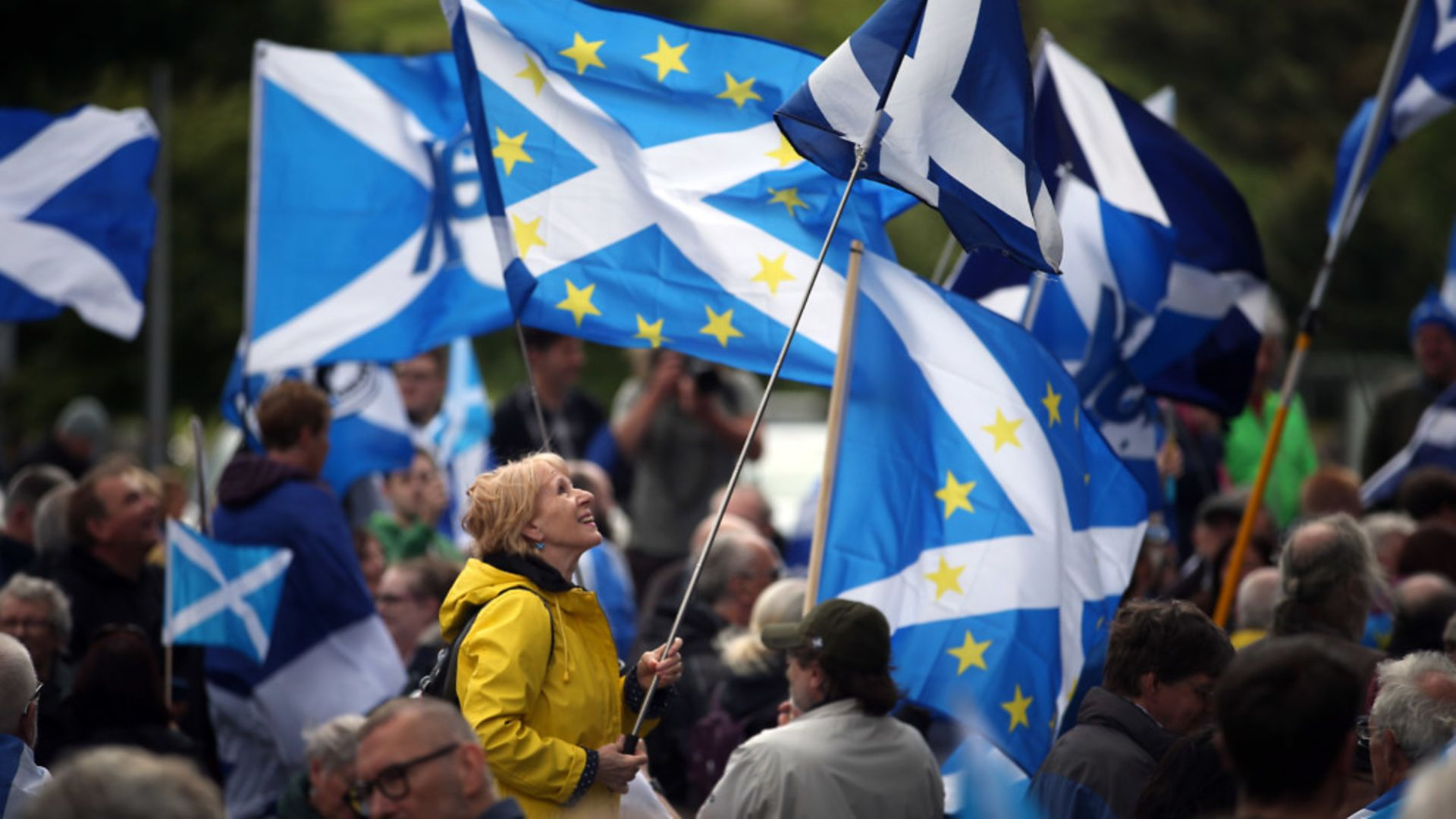Pro-independence campaigners protest against Brexit - Credit: PA Wire/PA Images