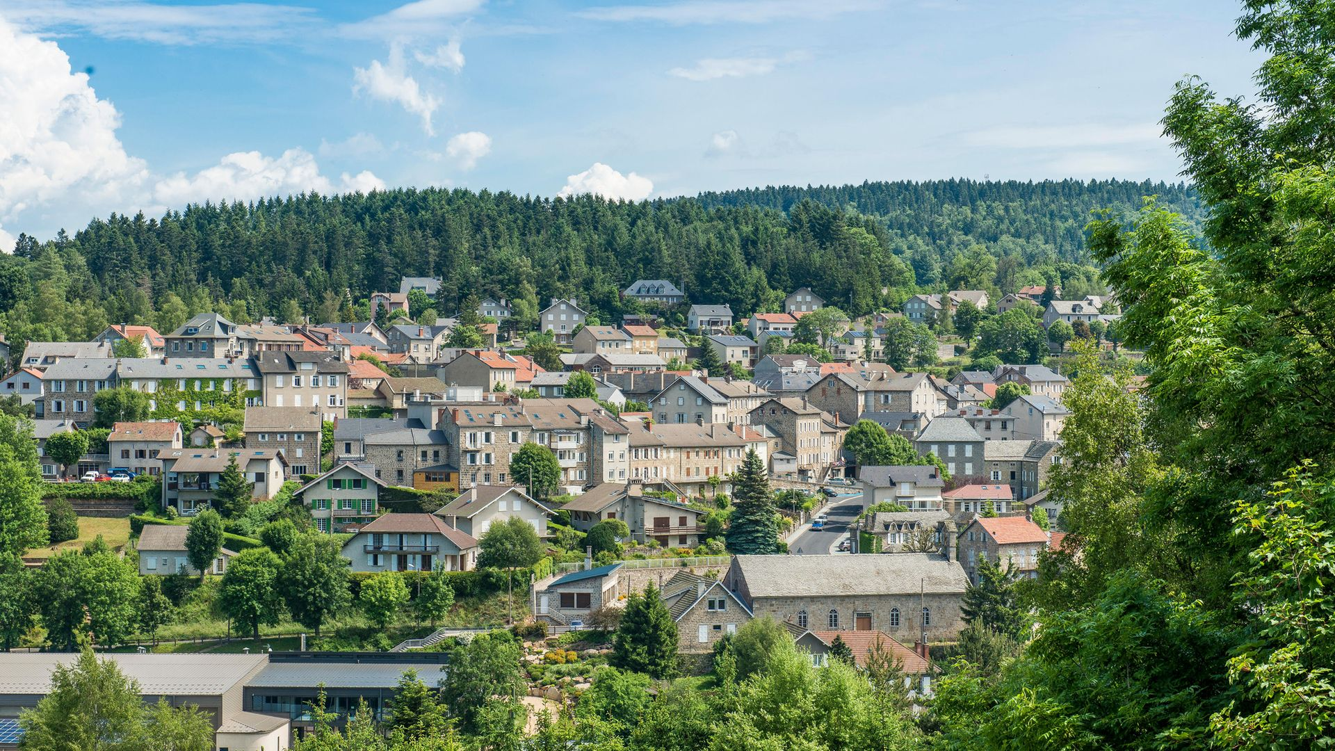 The French village of Chambon-sur-Lignon, which has just benefitted from a surprise windfall - Credit: Getty Images/Photononstop RF