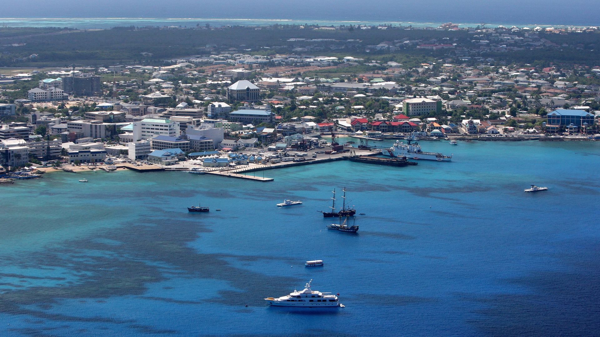 George Town, in Grand Cayman, Cayman Islands - Credit: Getty Images