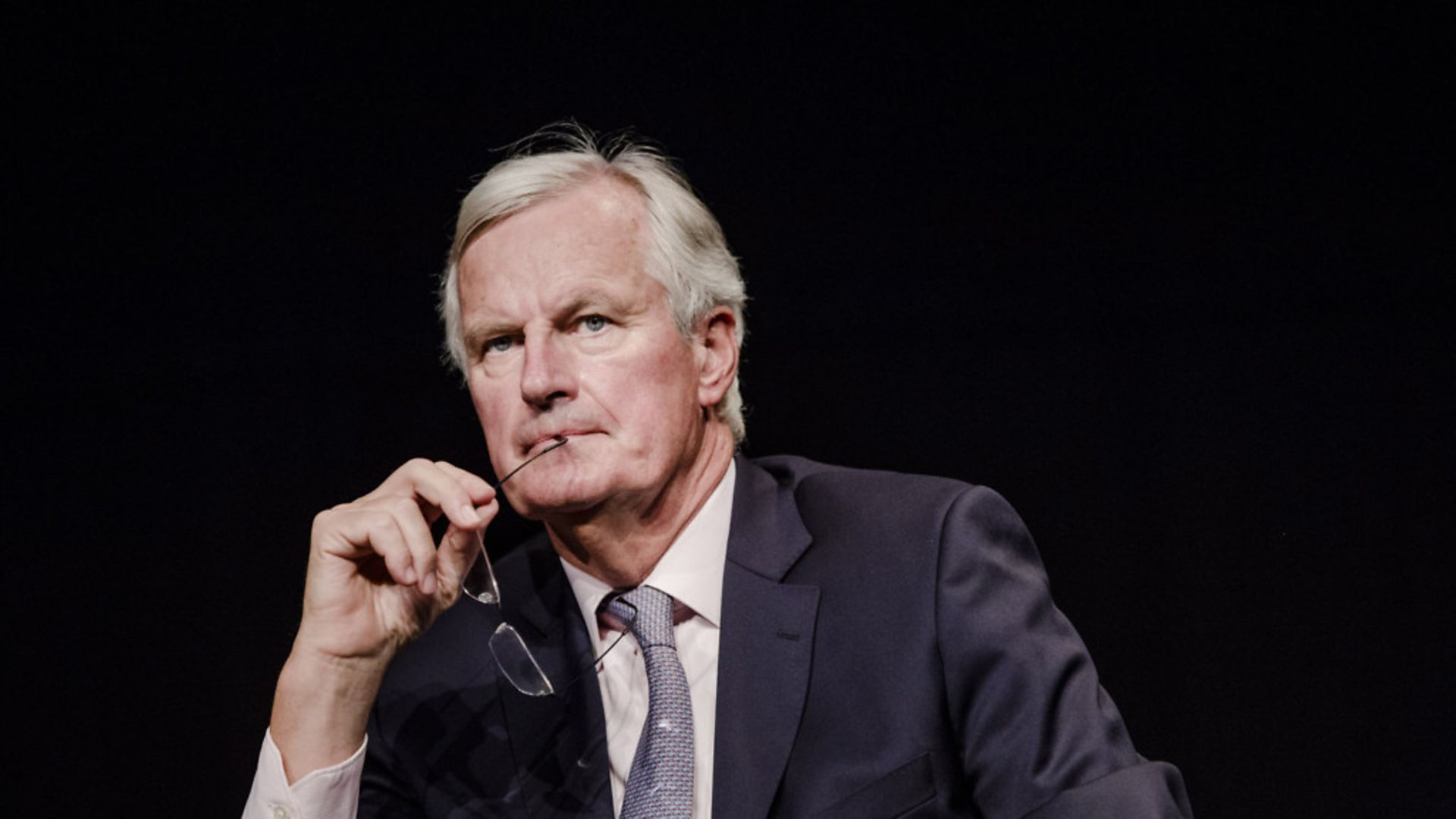 Michel Barnier has launched his own political faction within France's Conservative party, prompting speculation he could be preparing to take over as party leader by the next presidential election - Credit: Marlene Awaad/Bloomberg via Getty Images