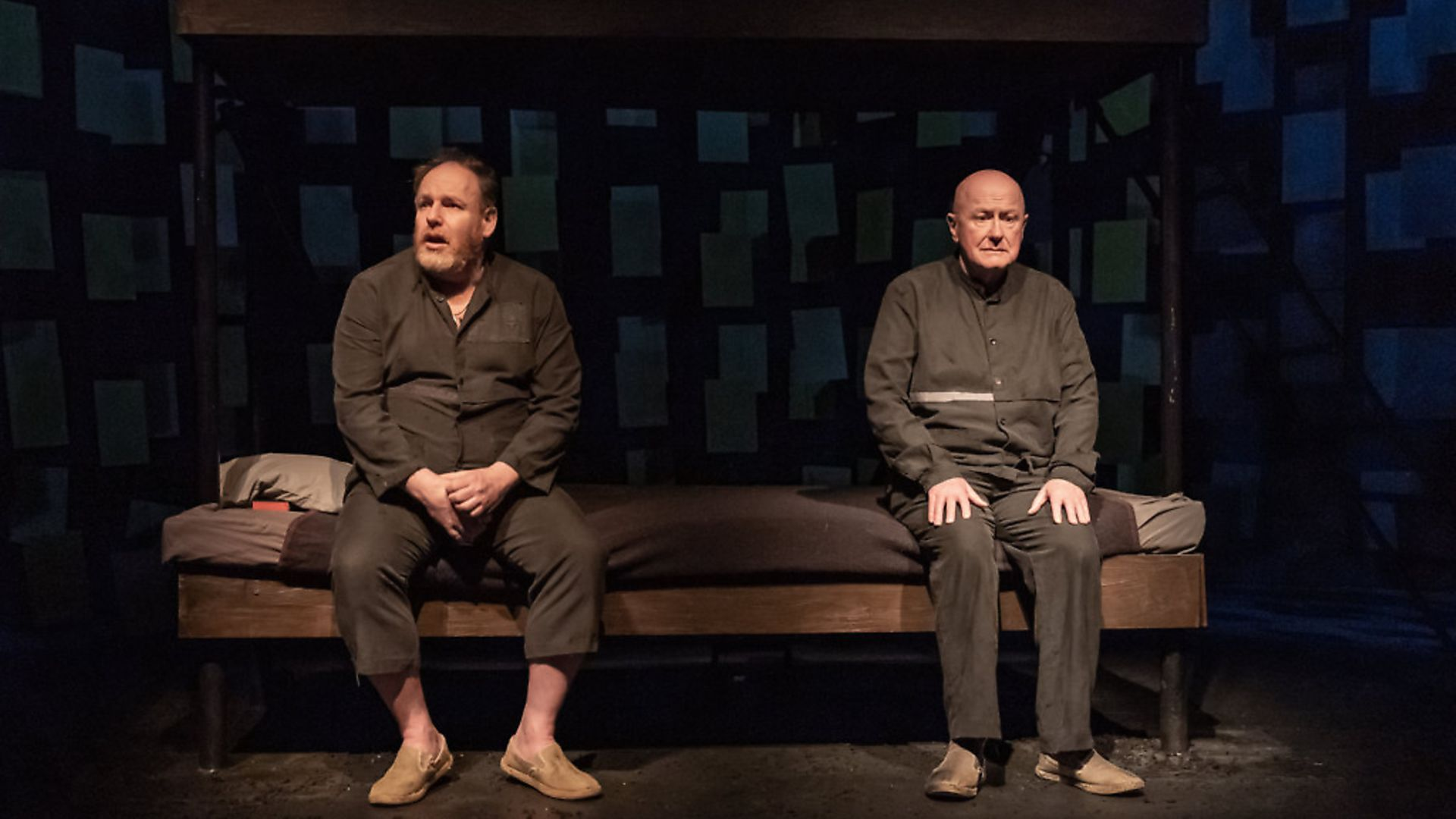 Niall Buggy and David Ganly in 'On Blueberry Hill' at Trafalgar Studios, London. Picture: Marc Brenner - Credit: Archant