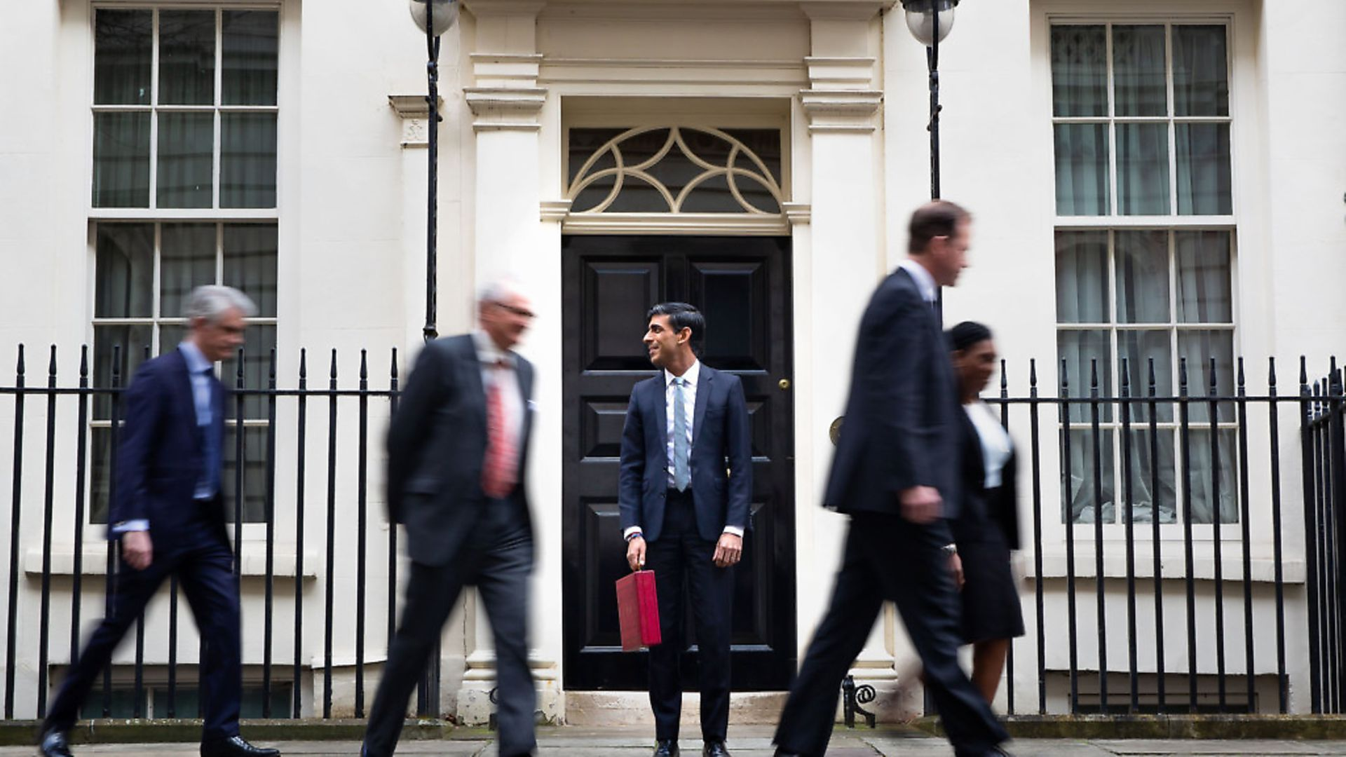 Chancellor Rishi Sunak outside 11 Downing Street before heading to the House of Commons to deliver his budget. Photograph: Aaron Chown/PA. - Credit: PA