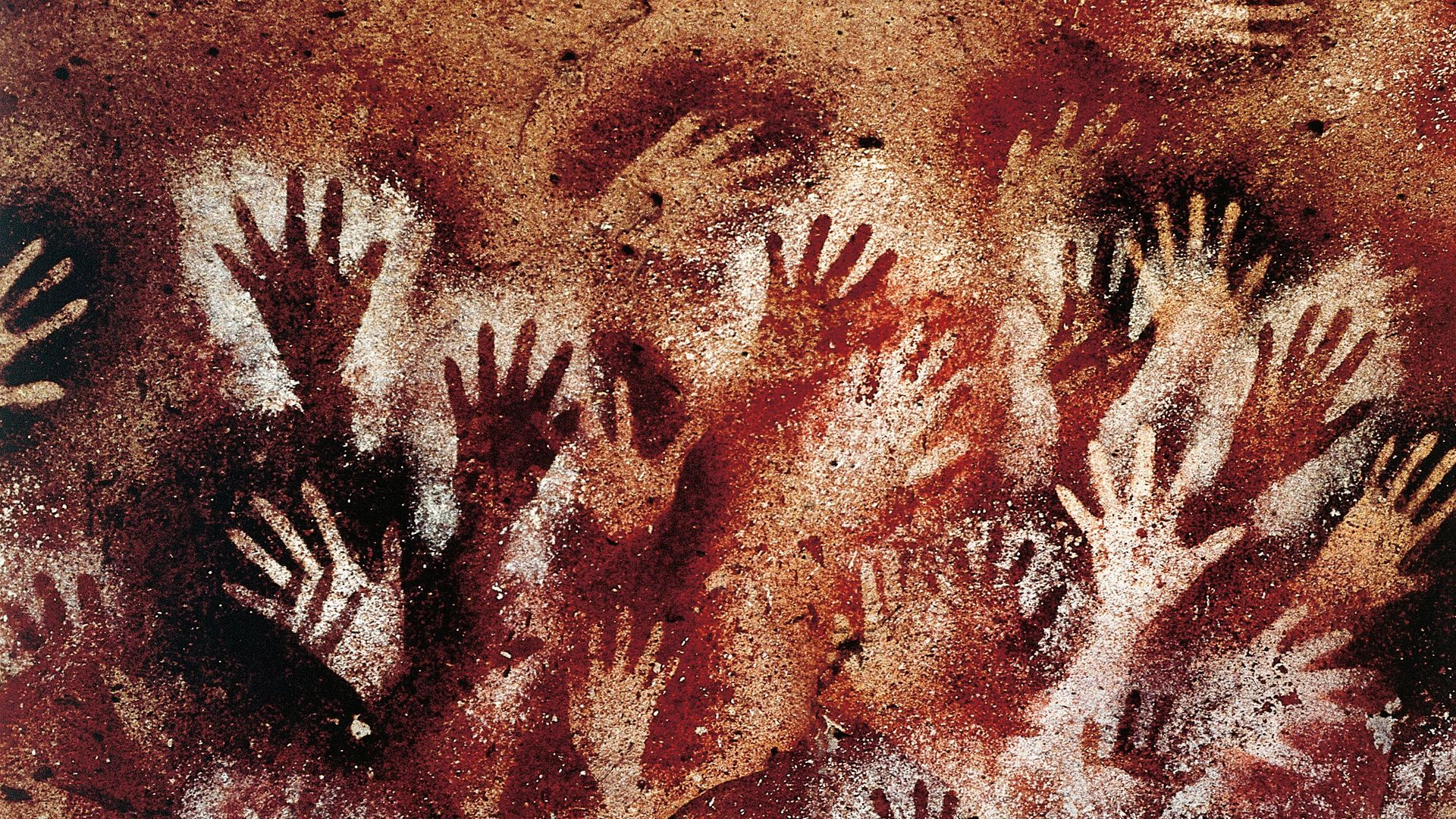 Paintings from the Cueva de las Manos ('Cave of the Hands'), in southern Argentina - Credit: De Agostini via Getty Images