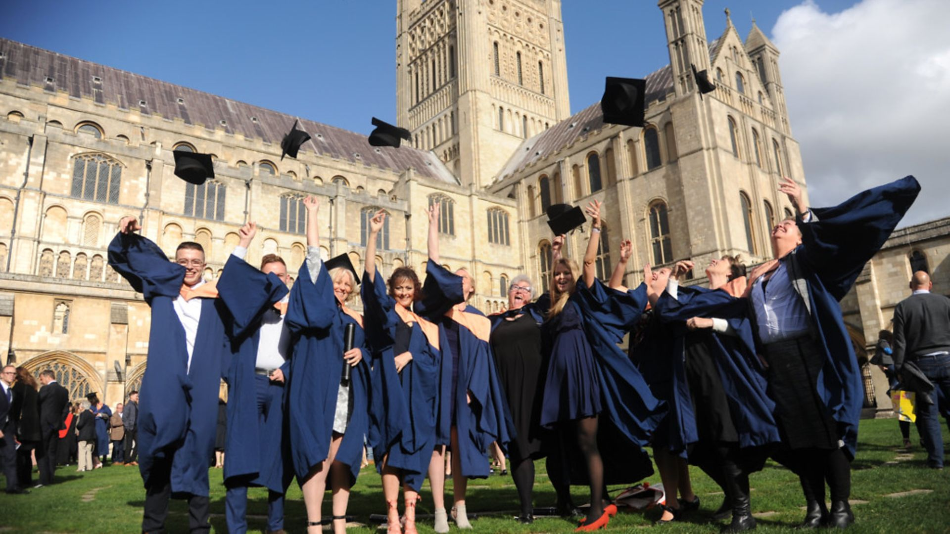 Students celebrate graduation at Norwich Cathedral - Credit: Archant