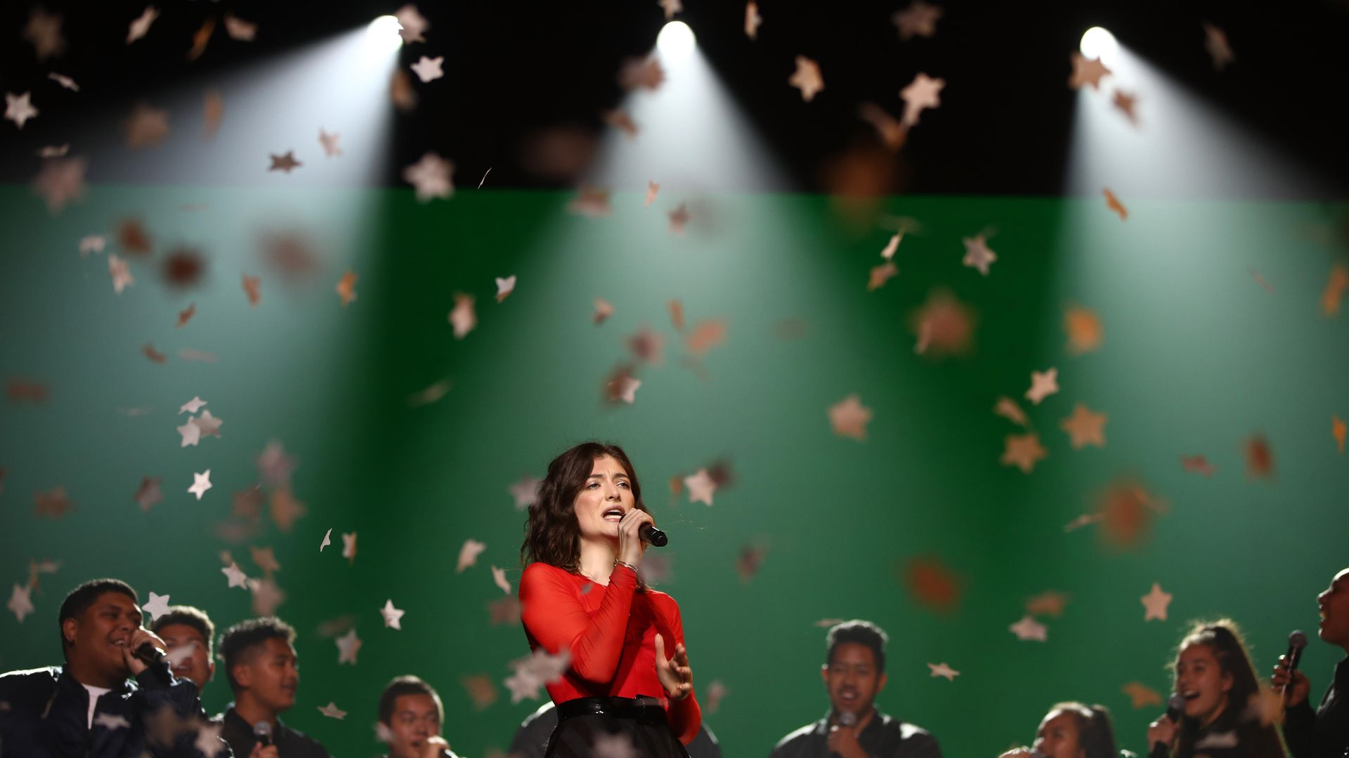 GOLDEN STAR: Lorde performs at the New Zealand Music Awards in Auckland, in 2017 - Credit: Getty Images