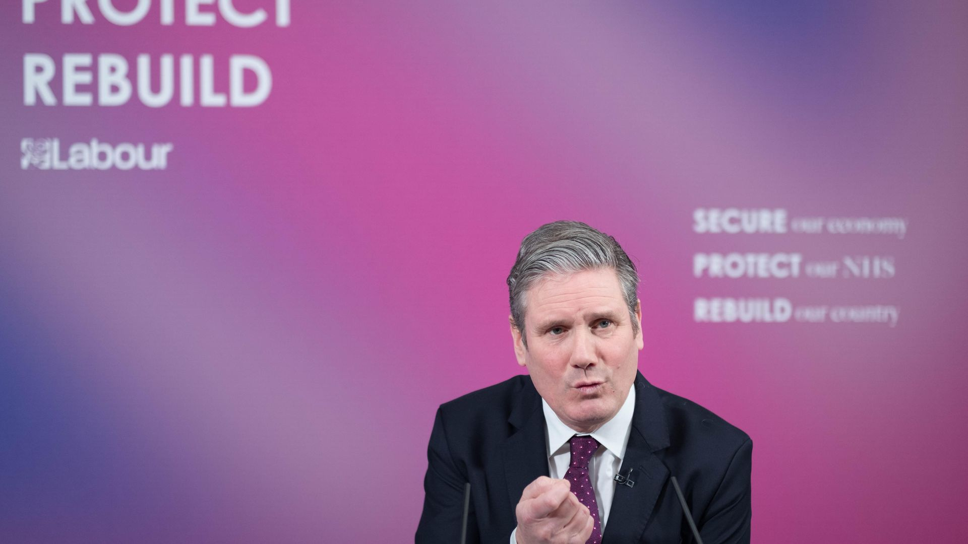 Labour leader Sir Keir Starmer delivers a virtual speech on Britain's economic future in the wake of the coronavirus pandemic, at Labour headquarters in central London - Credit: PA
