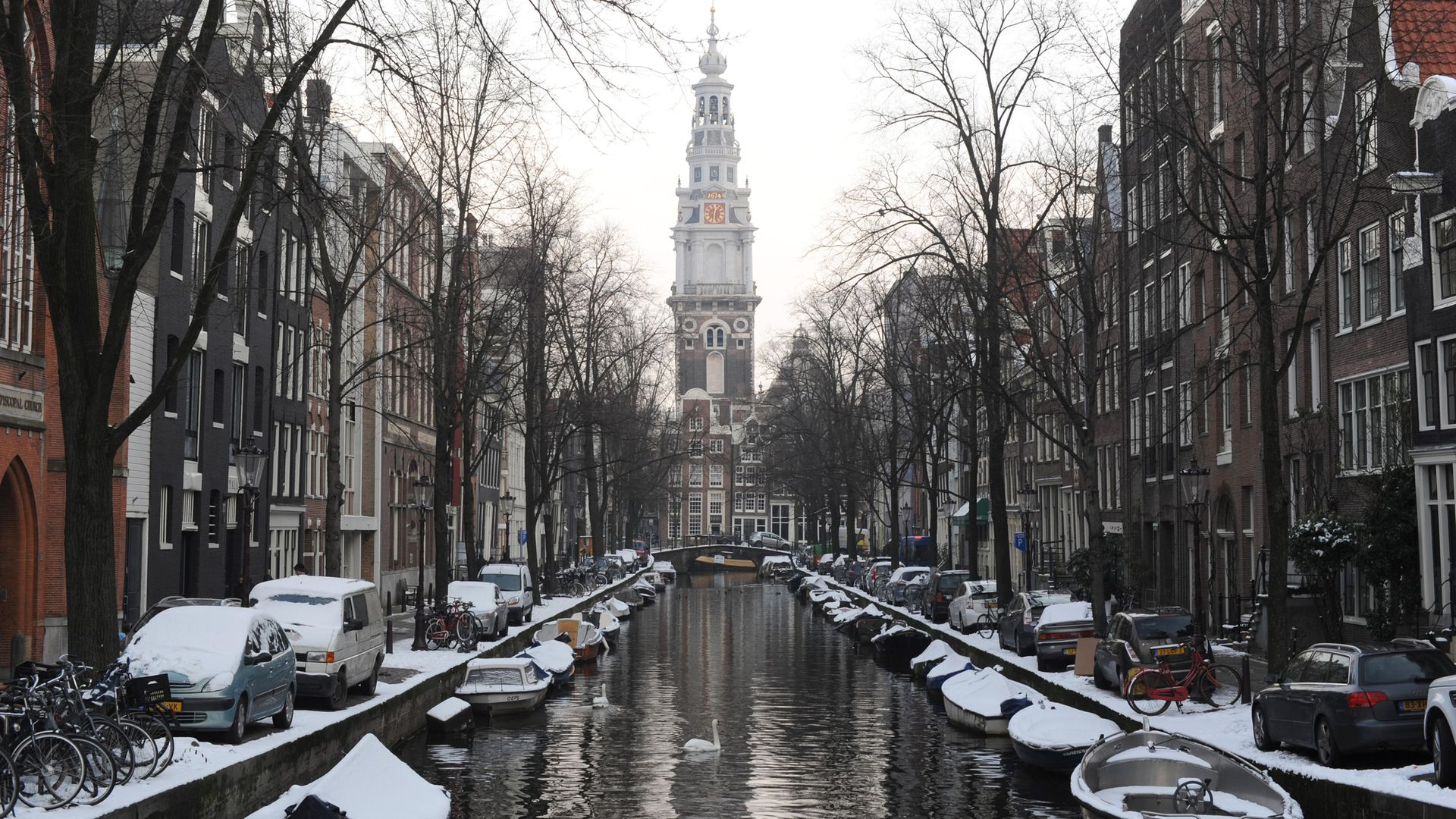 A view of the canal in Amsterdam - Credit: PA