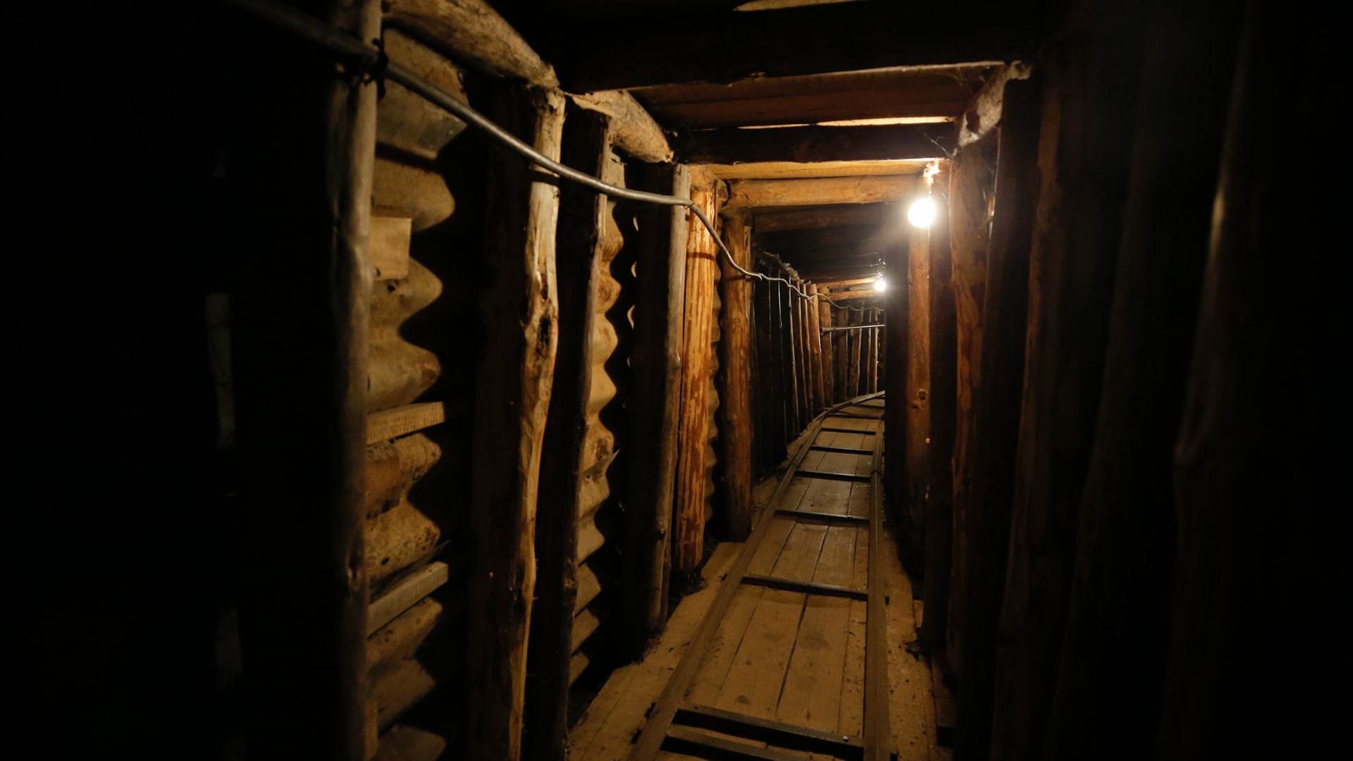 A tunnel in Sarajevo which was used during the siege of the city - Credit: Anadolu Agency via Getty Images