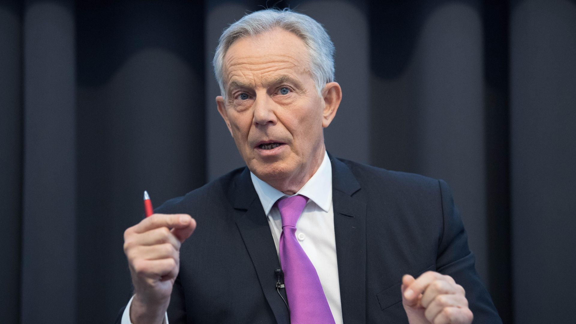 Tony Blair has suggested England implement a 'traffic light system' for easing Covid lockdown restrictions - Credit: PA