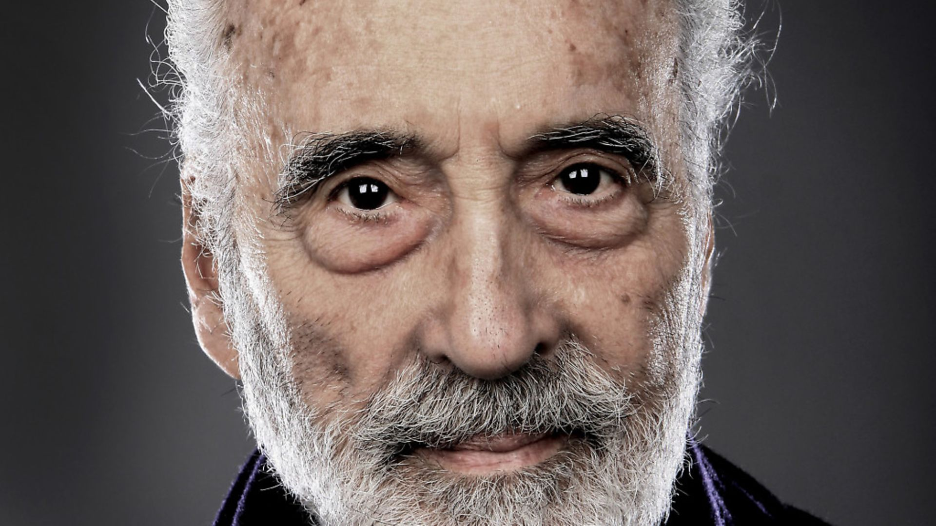 Christopher Lee, portrait, backstage at the Golden Gods  Awards at the O2 in London on June 15th 2014. (Photo by Mick Hutson/Redferns) - Credit: Redferns