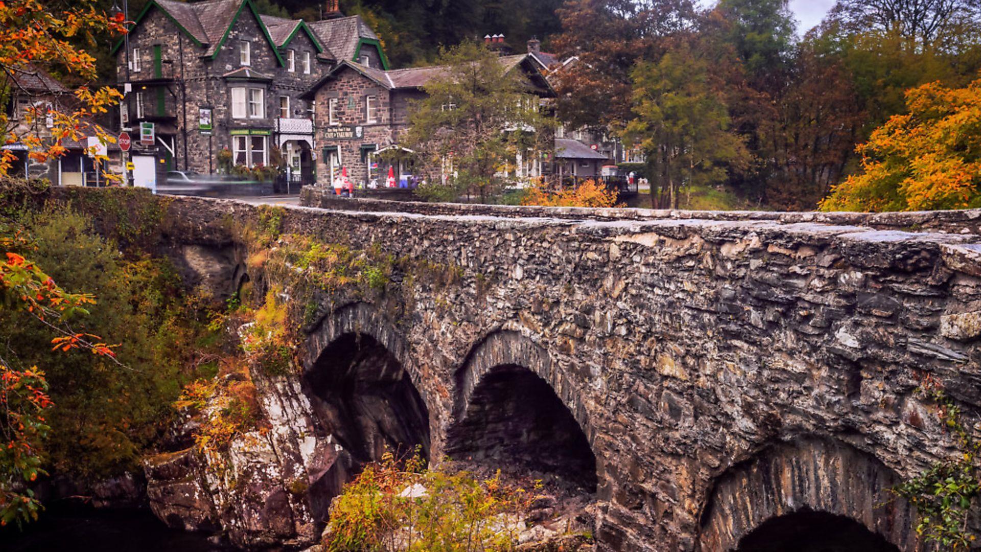 The Bridge at Betws-Y-Coed, Snowdonia, Wales - Credit: Getty Images