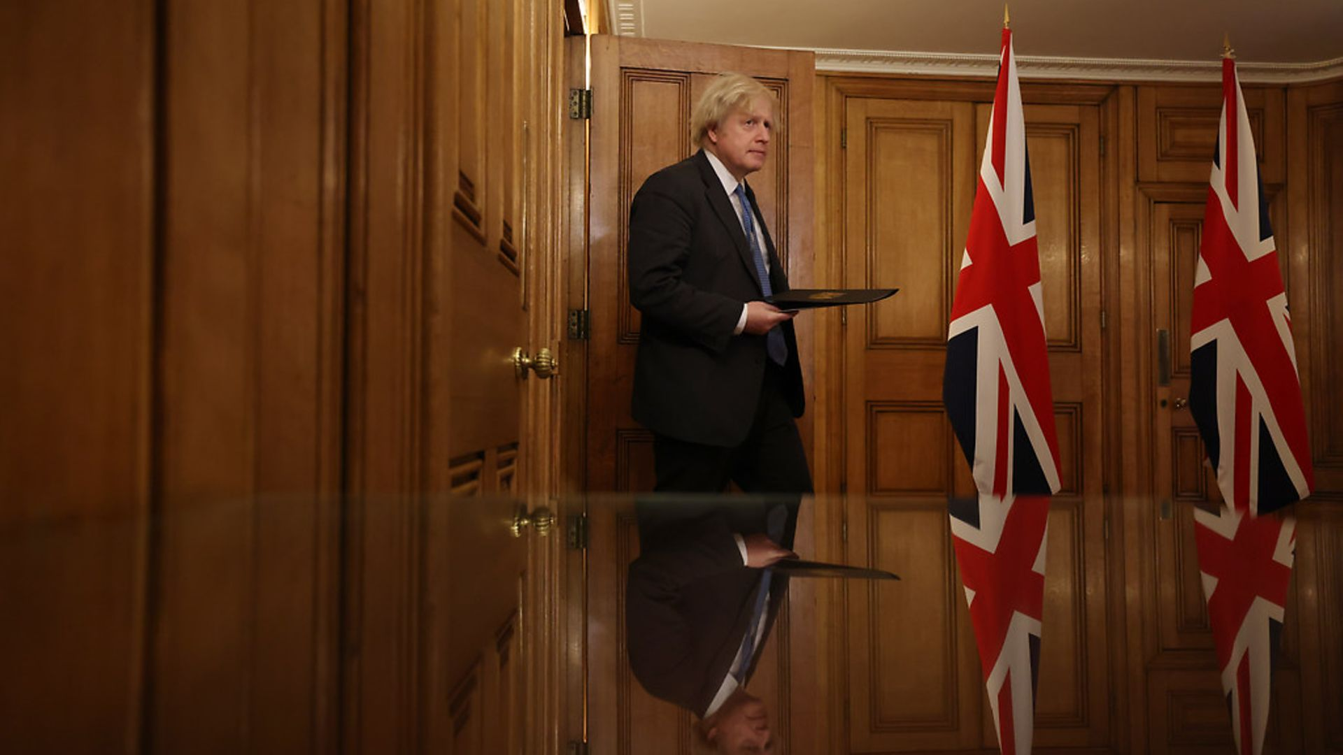 Boris Johnson holds a press conference at 10 Downing Street - Credit: Simon Dawson / No10 Downing Street