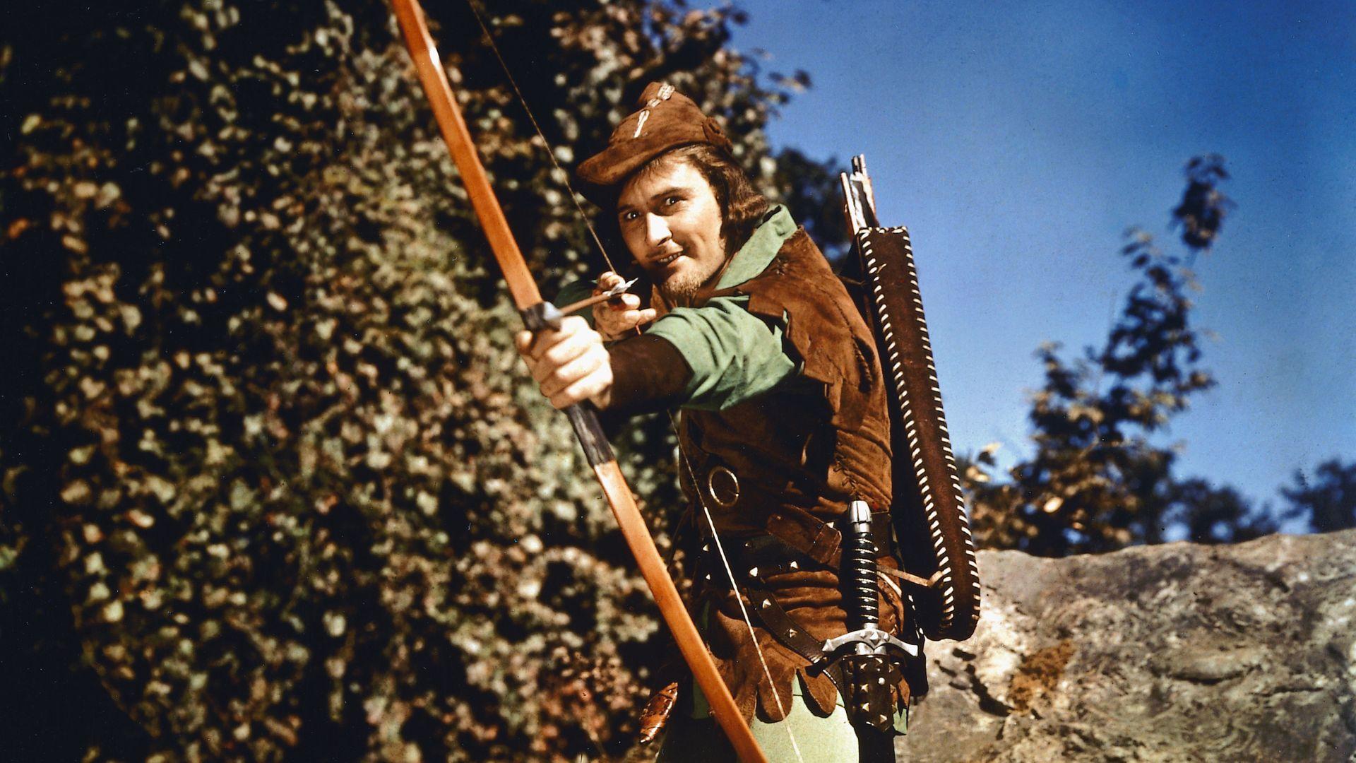 FREE SPIRIT: Errol Flynn in the 1938 film The Adventures of Robin Hood - Credit: Getty Images