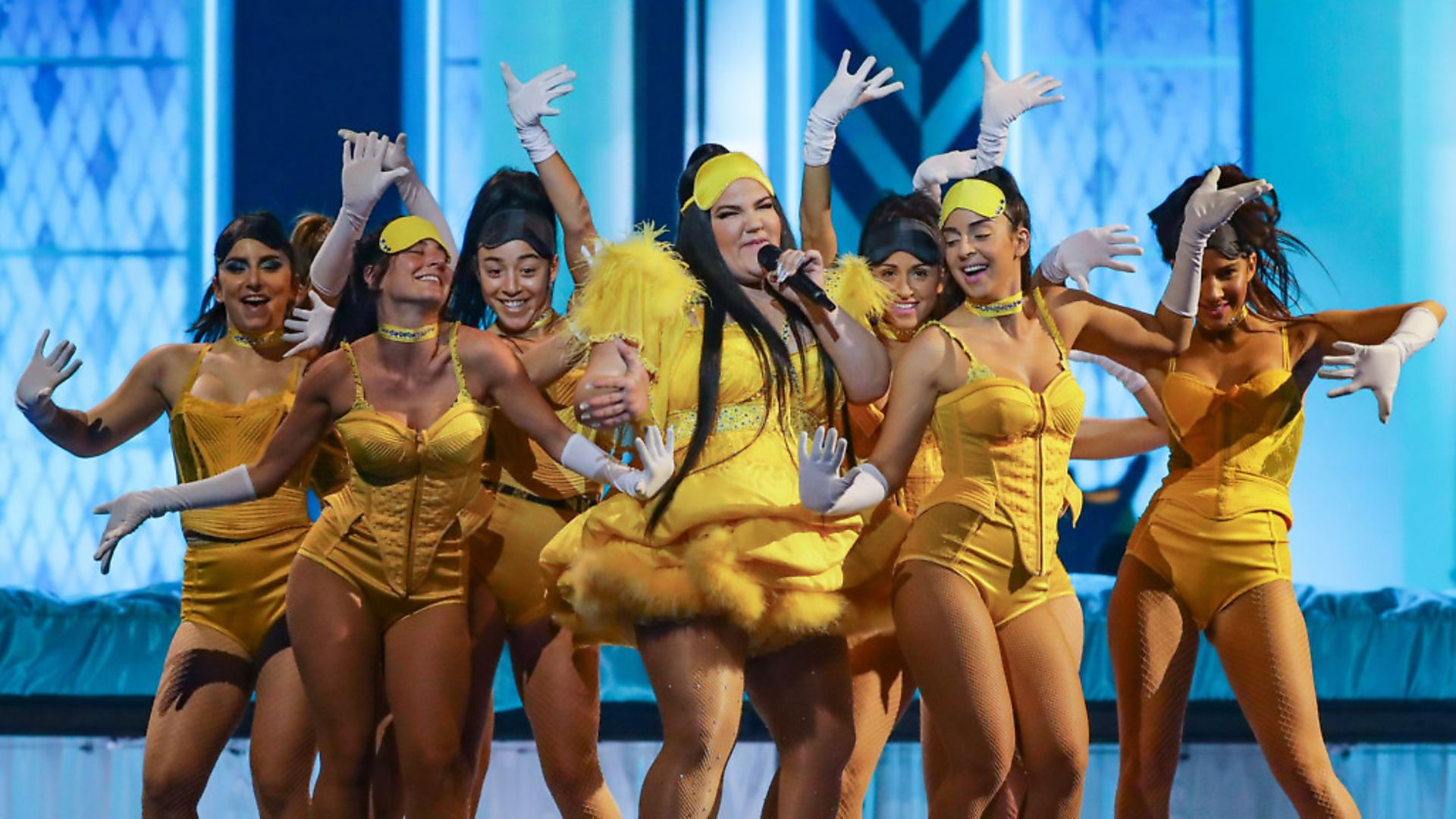 Israeli singer Netta Barzilai, the winner of the 2018 Eurovision Song Contest, performs during a dress rehearsal for the 2019 Eurovision Song Contest Grand Final. Picture: Vyacheslav ProkofyevTASS via Getty Images - Credit: Vyacheslav Prokofyev/TASS
